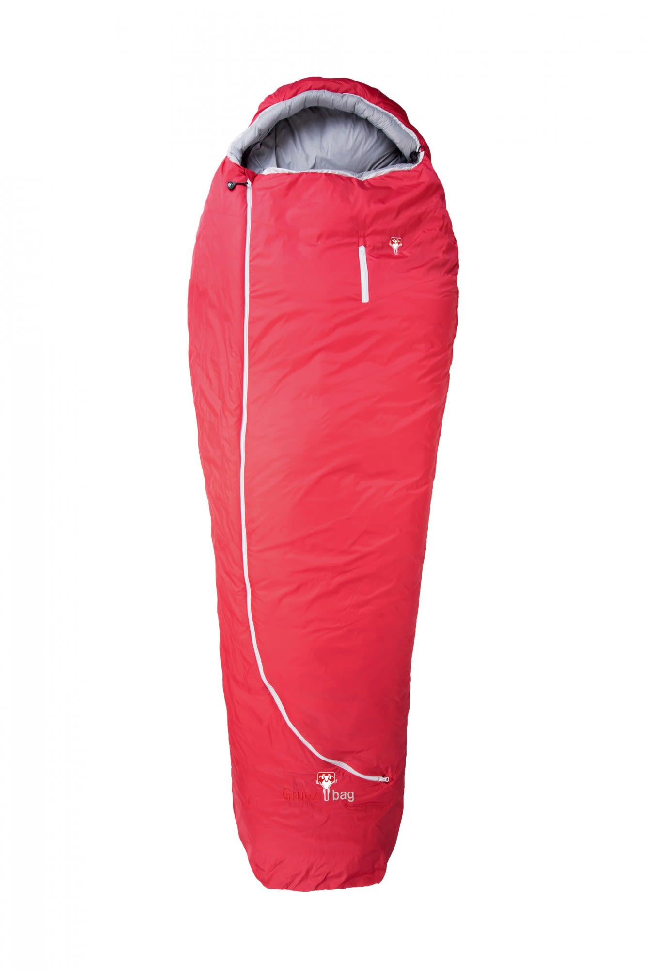 Grüezi Bag Biopod Wolle Zero XL Rot, Daunen Wollschlafsack, 230 cm