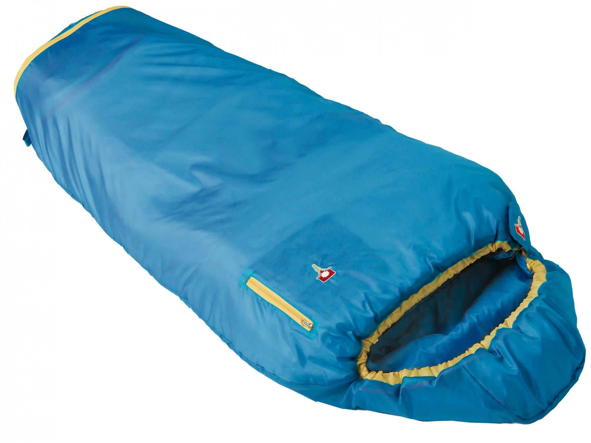 Grüezi Bag Kids Grow Colorful Blau, 180 cm RV rechts -Farbe Water, 180 cm RV re