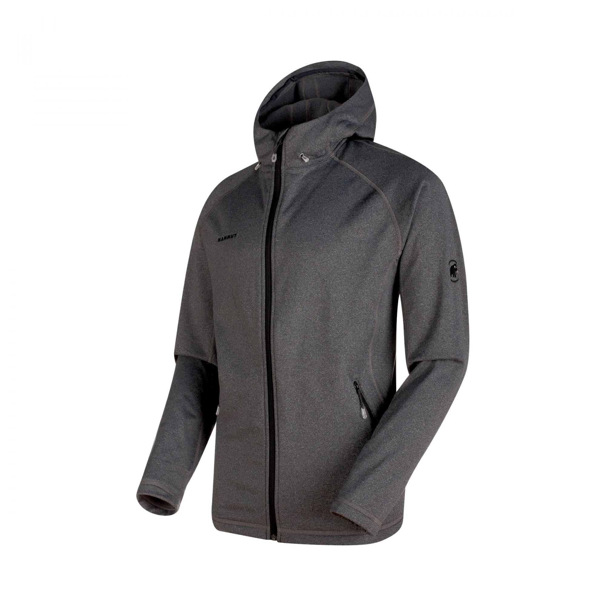 Mammut Runbold ML Hooded Jacket Grau, Male Fleecejacke, L