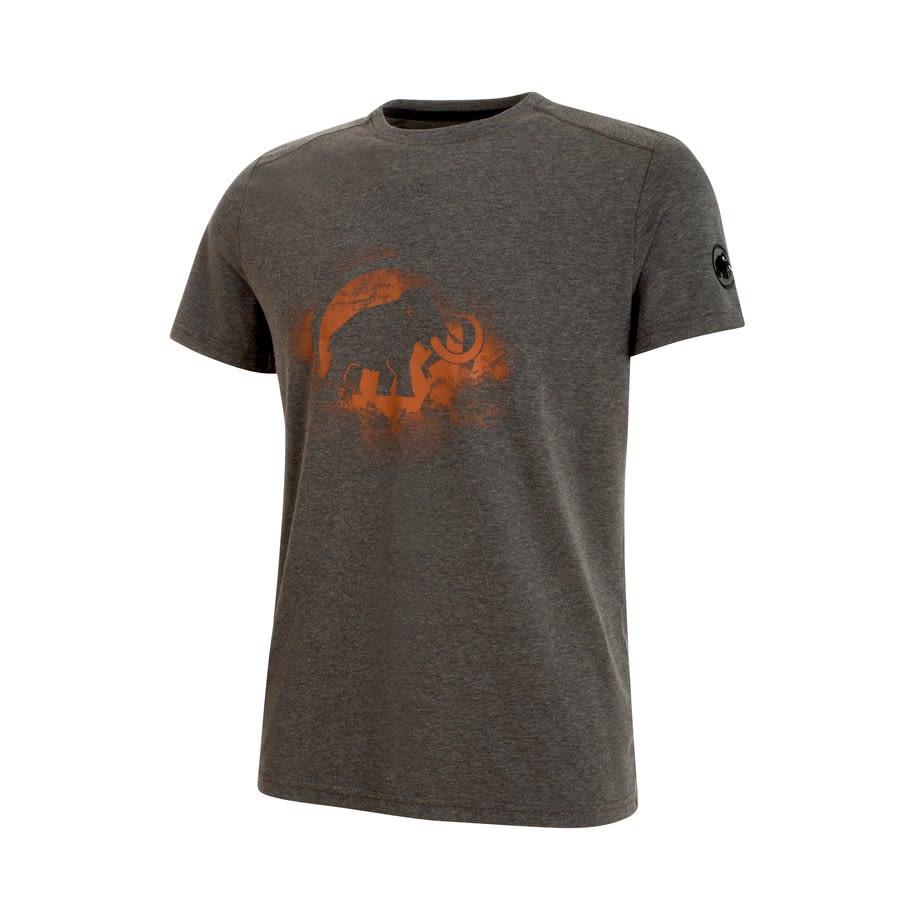 Mammut Trovat T-Shirt Braun, Male Mens -Farbe Black Melange -Dark Orange, M