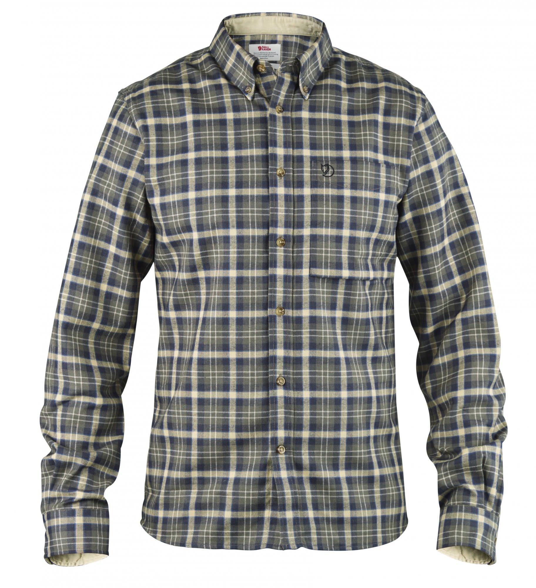 Fjällräven Stig Flannel Shirt Kariert, Male Langarm-Hemd, L