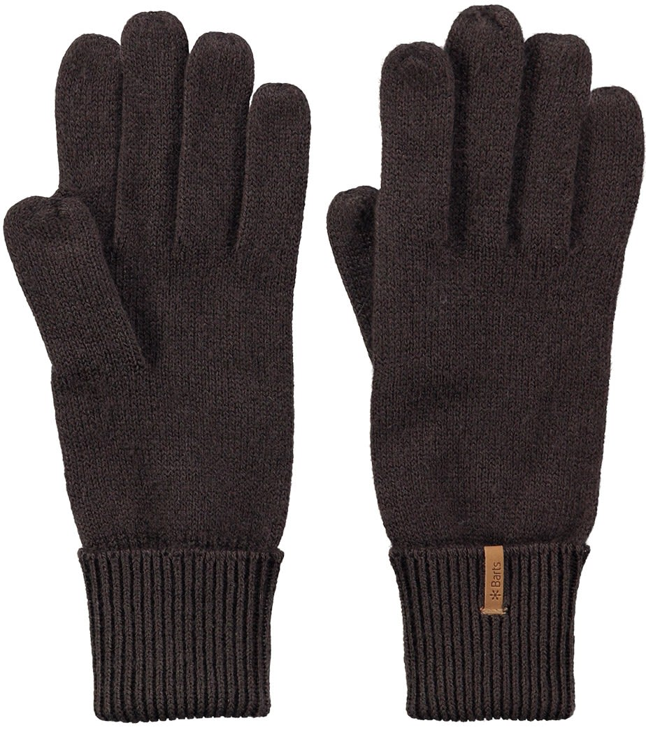 Barts Fine Knitted Gloves Braun, Female Accessoires, L