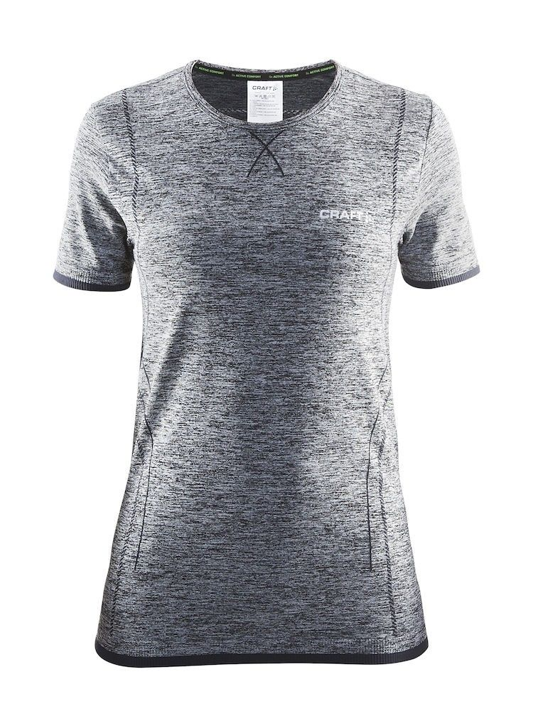 Craft Active Comfort RN Short-Sleeve Grau, Female S -Farbe Black -Grey, S
