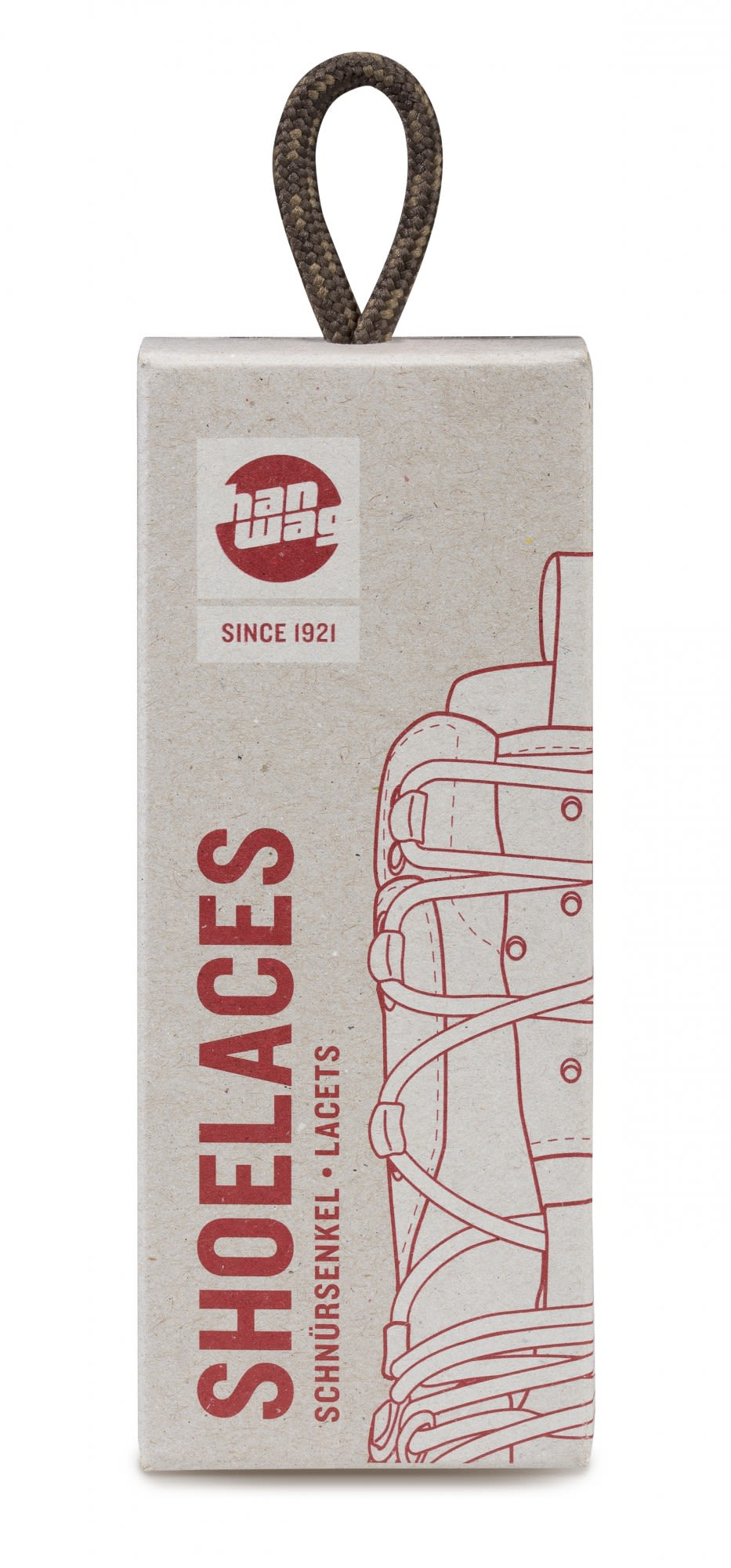 Hanwag Shoelaces 220cm Braun, 220 cm -Farbe Erde -Brown, 220 cm