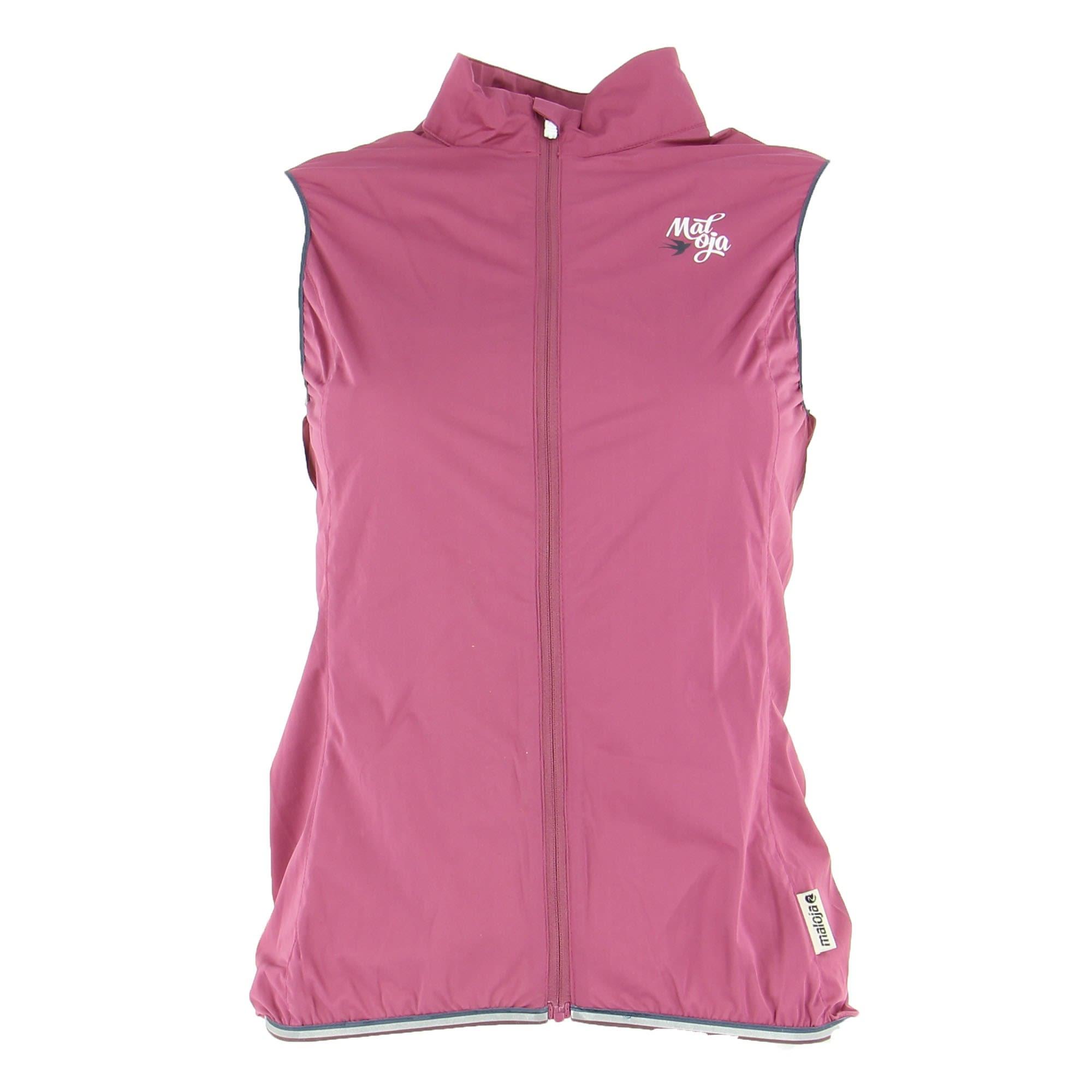 Maloja Poppym. Vest Pink, Female Winddichte Weste, S