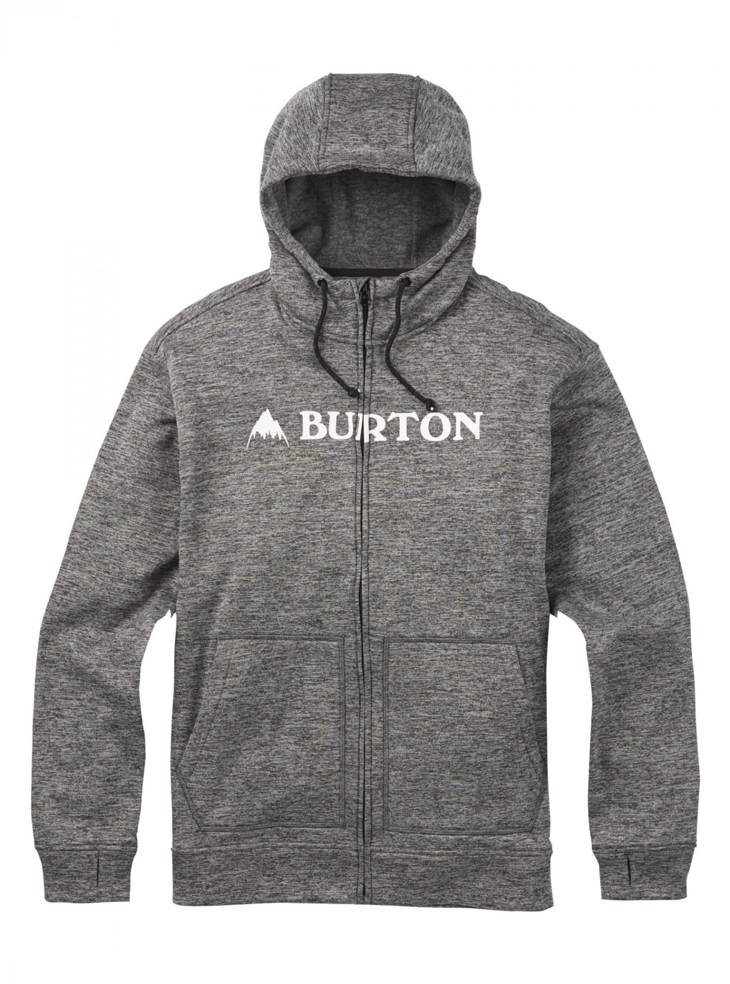 Burton MB OAK Full-Zip Hoodie (Modell Winter 2017) Grau, Male Freizeitpullover,