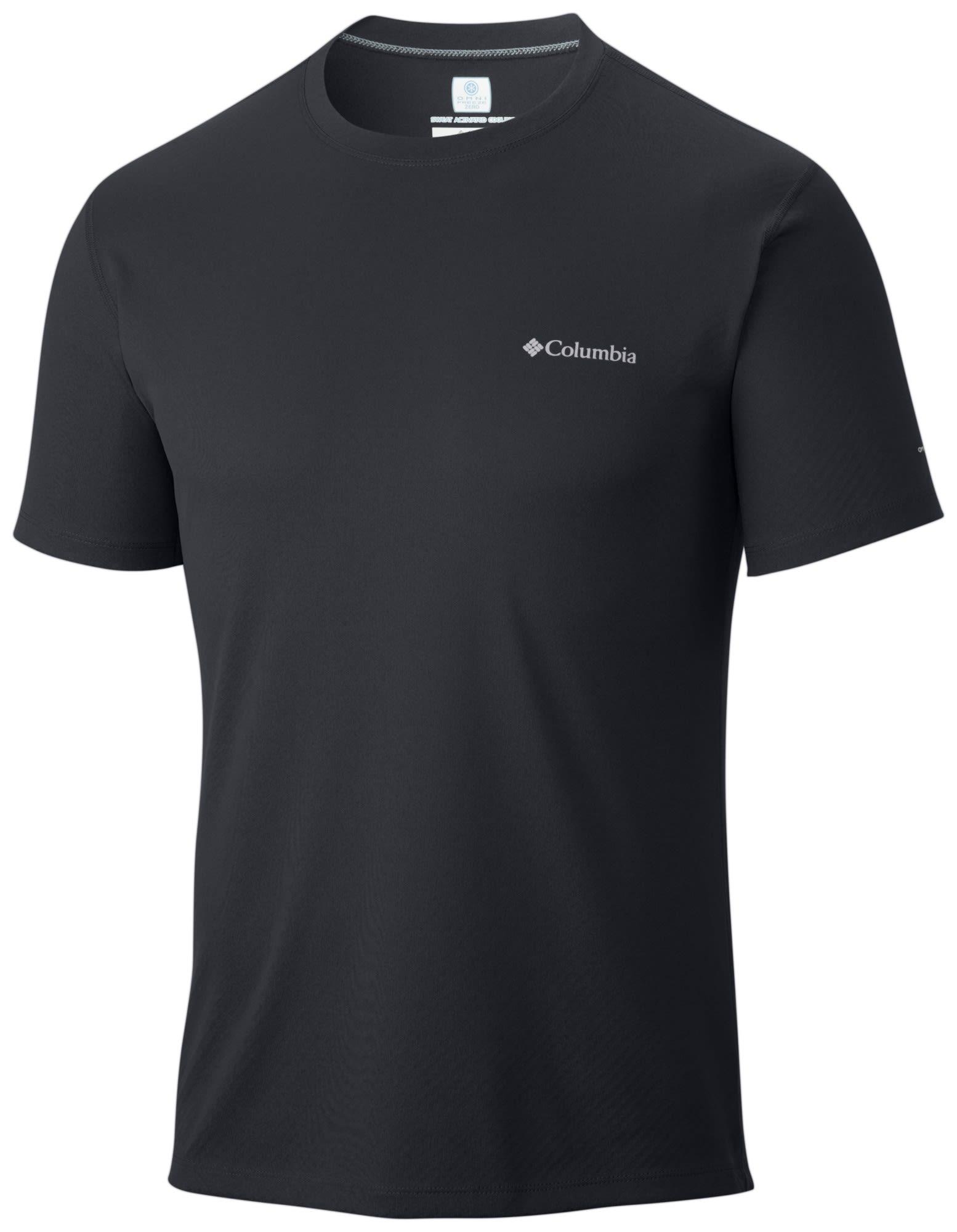 Columbia Zero Rules Short Sleeve Shirt Schwarz, Male Kurzarm-Shirt, M