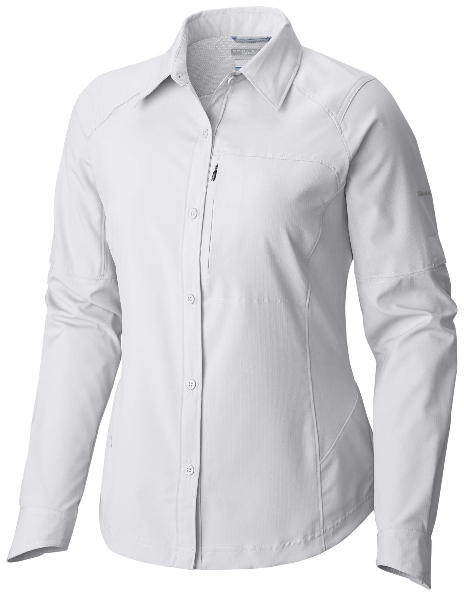 Columbia Silver Ridge Long Sleeve Shirt Weiß, Female Langarm-Hemd, L