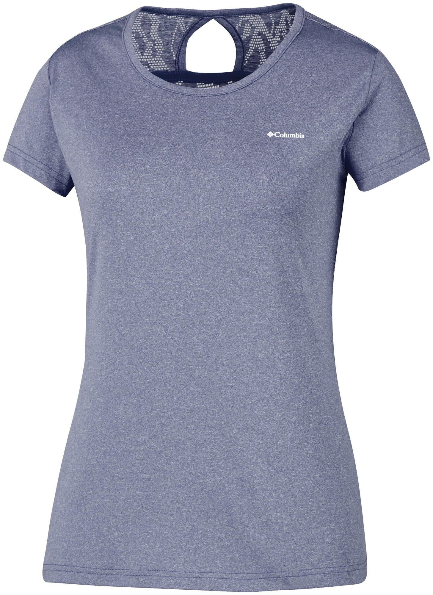 Columbia Peak TO Point Novelty Short Sleeve Shirt Blau, Female Kurzarm-Shirt, M