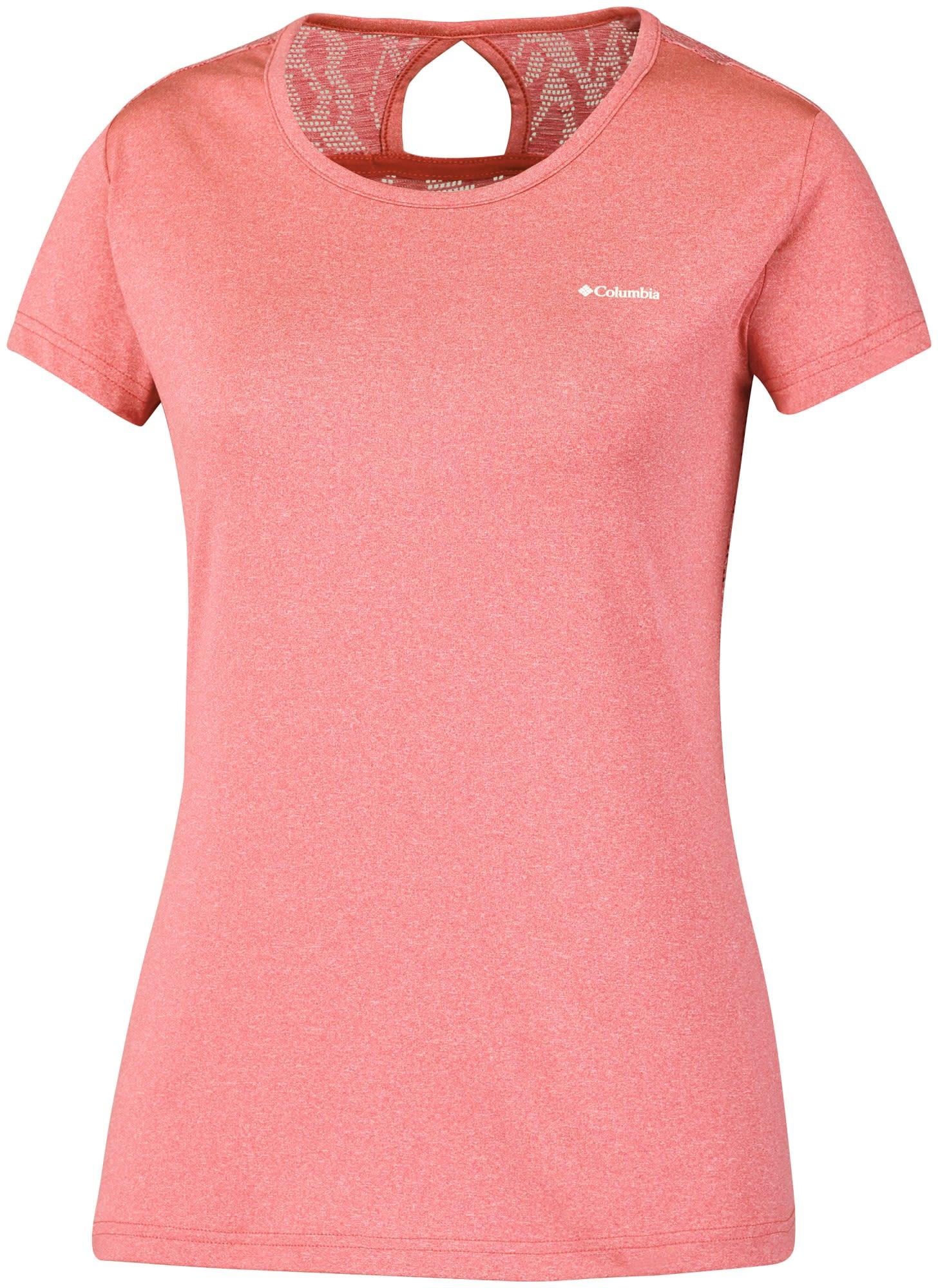 Columbia Peak TO Point Novelty Short Sleeve Shirt Rot, Female Kurzarm-Shirt, M