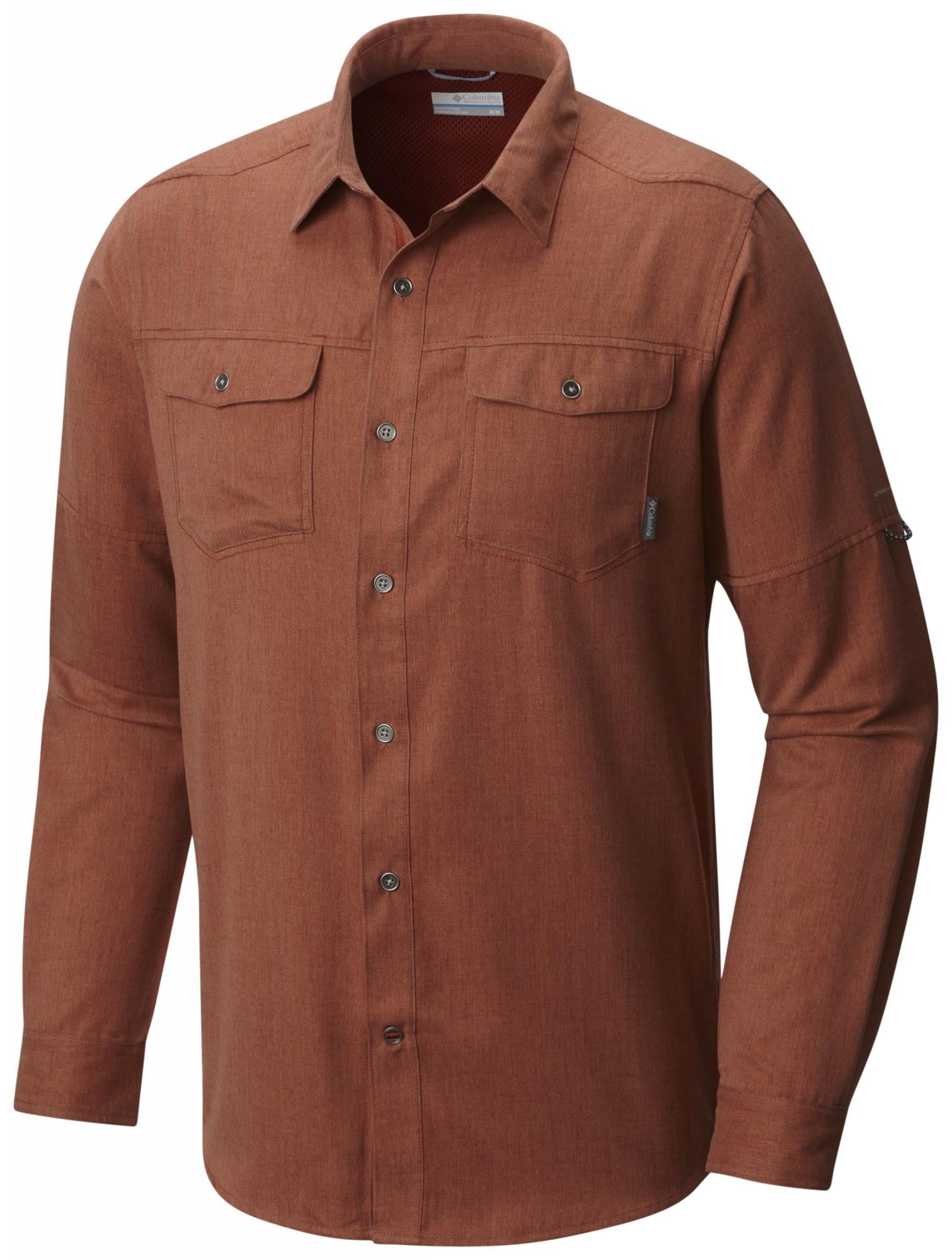 Columbia Pilsner Lodge Long Sleeve Shirt Rot, Male Kurzarm-Hemd, L