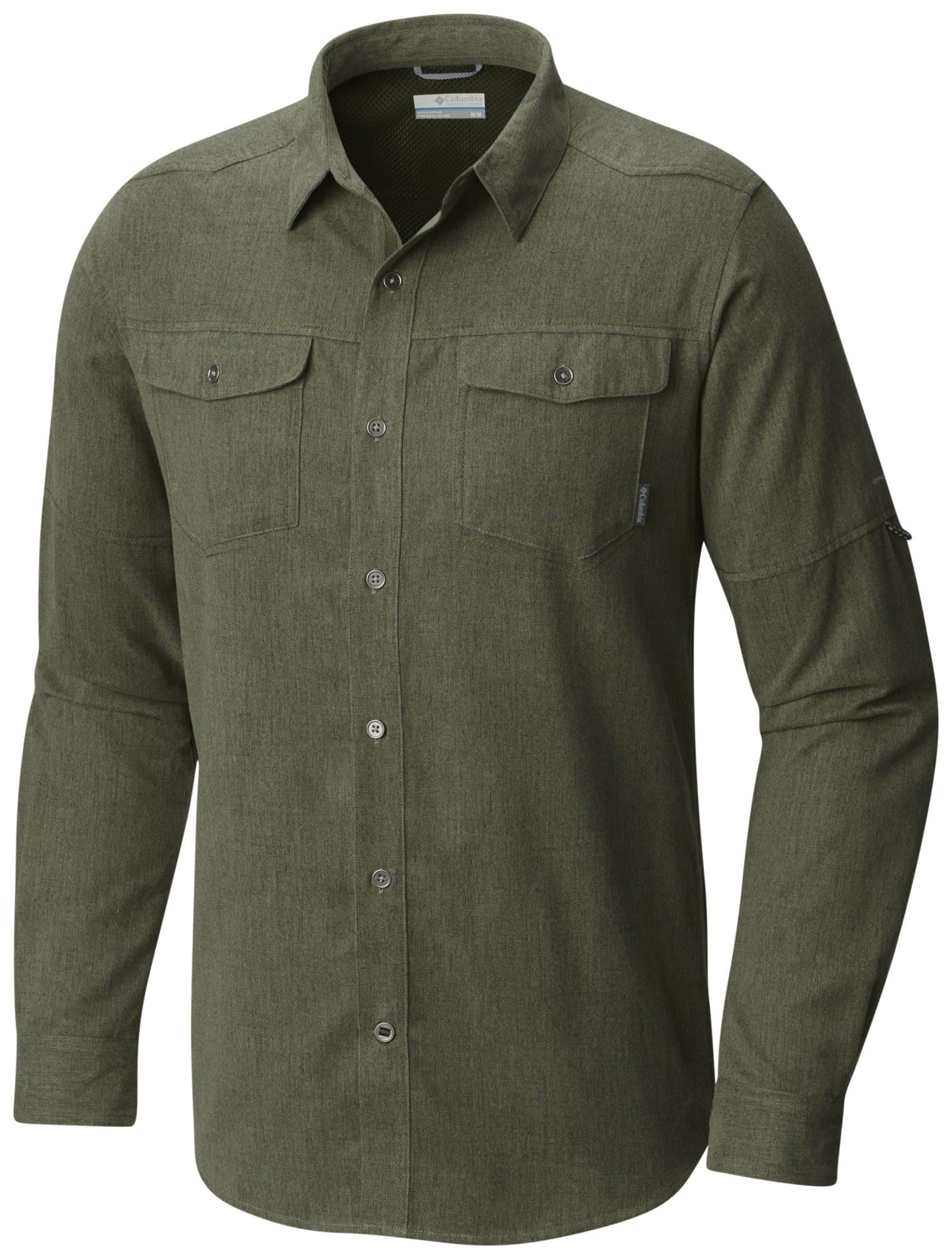Columbia Pilsner Lodge Long Sleeve Shirt Grün, Male Kurzarm-Hemd, M