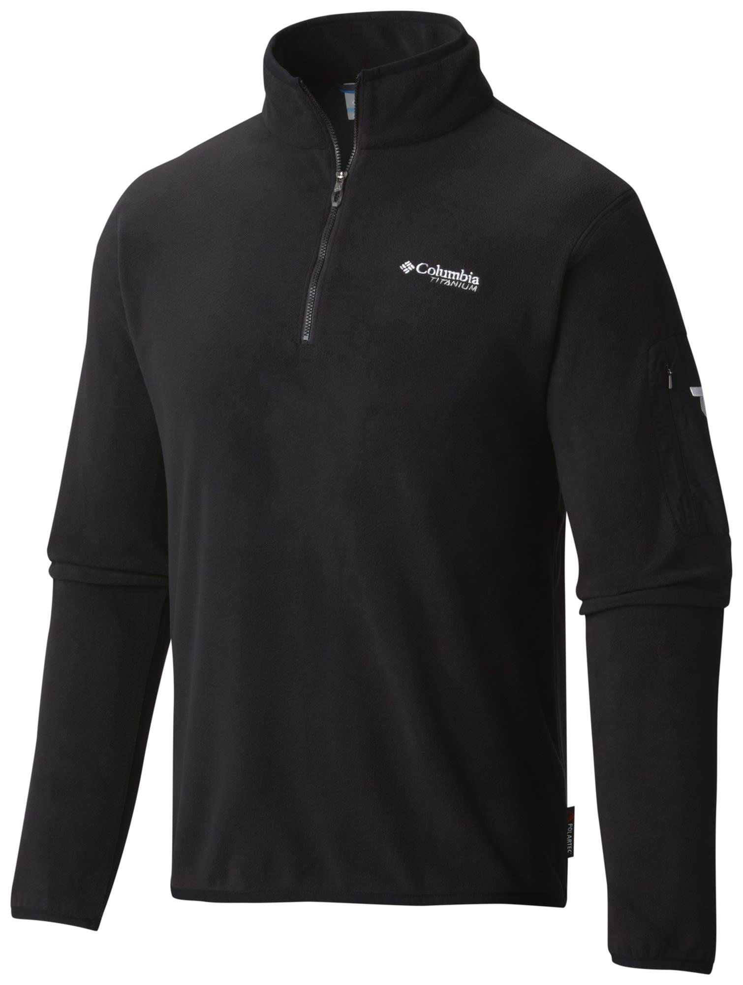 Columbia Titan Pass 1.0 Half Zip Fleece Schwarz, Male Polartec® Freizeitpullove
