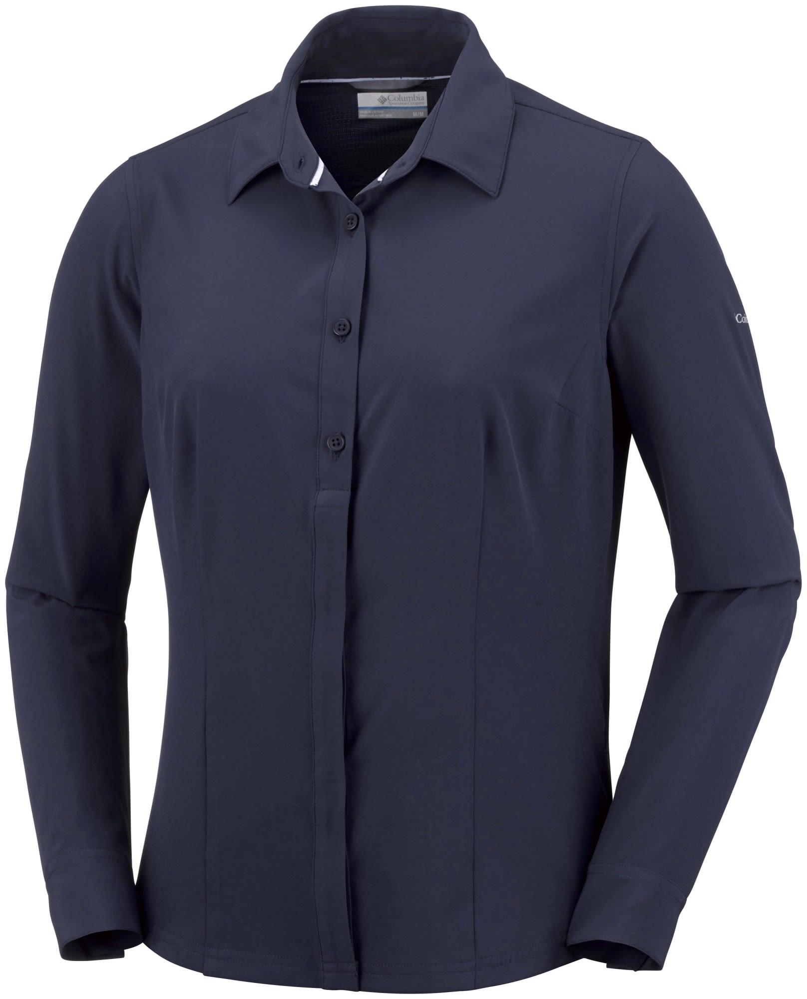 Columbia Saturday Trail Stretch Long Sleeve Shirt Blau, Female Langarm-Hemd, M