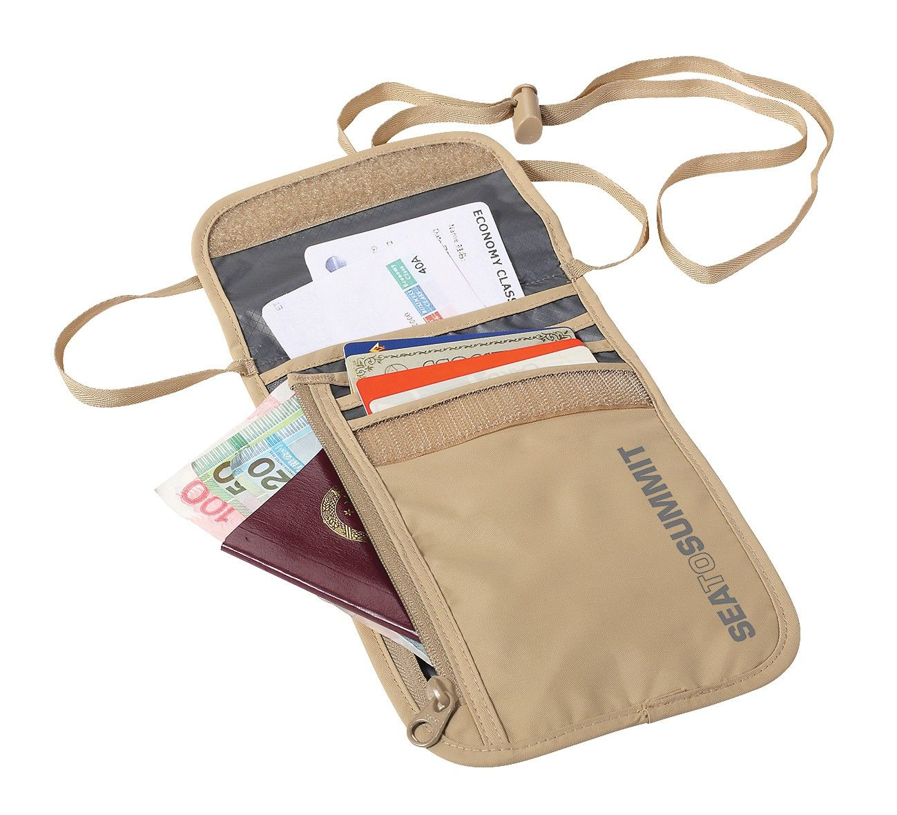 Sea to Summit Neck Wallet 5 Braun, One Size -Farbe Sand, One Size