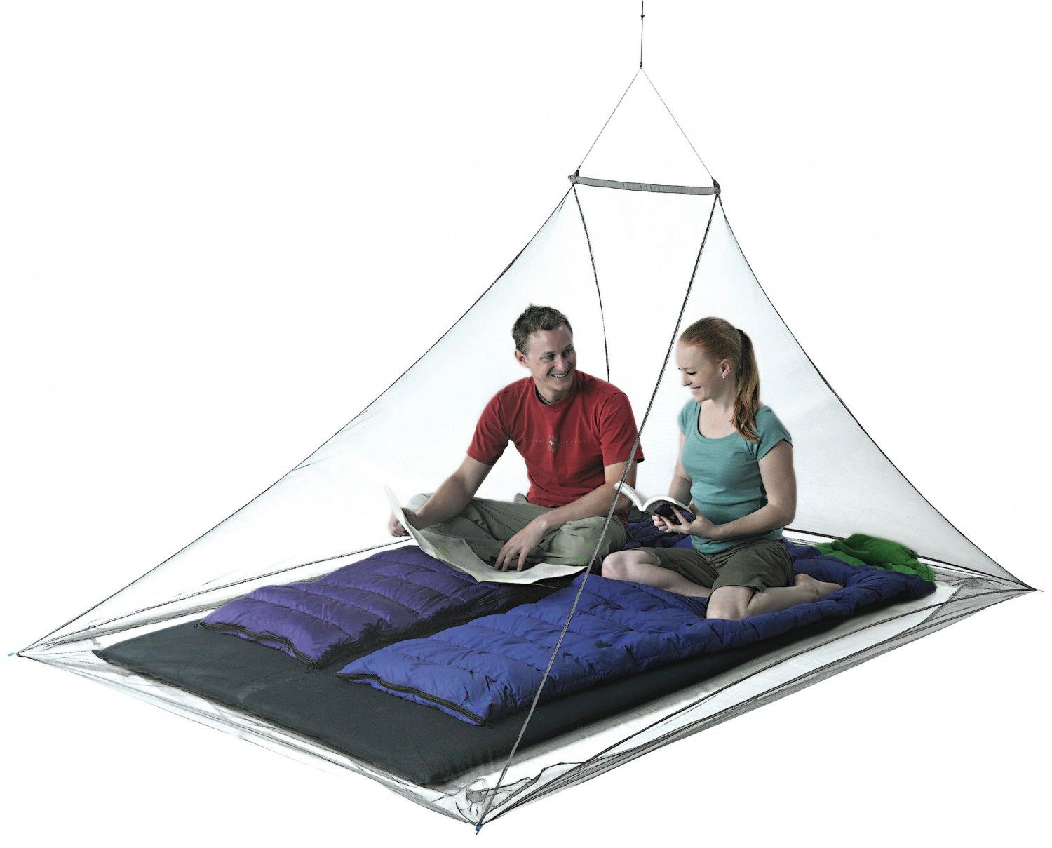 Sea to Summit Nano Mosquito Pyramid NET Double Schwarz, 2 Personen -Farbe Black,