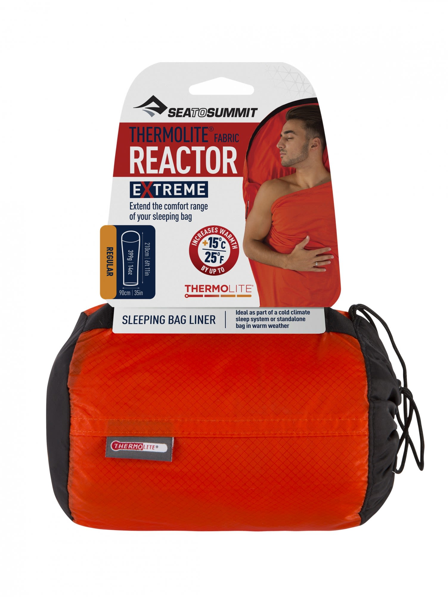 Sea to Summit Thermolite Reactor Extreme Liner Rot, 210 cm -Farbe Red, 210 cm