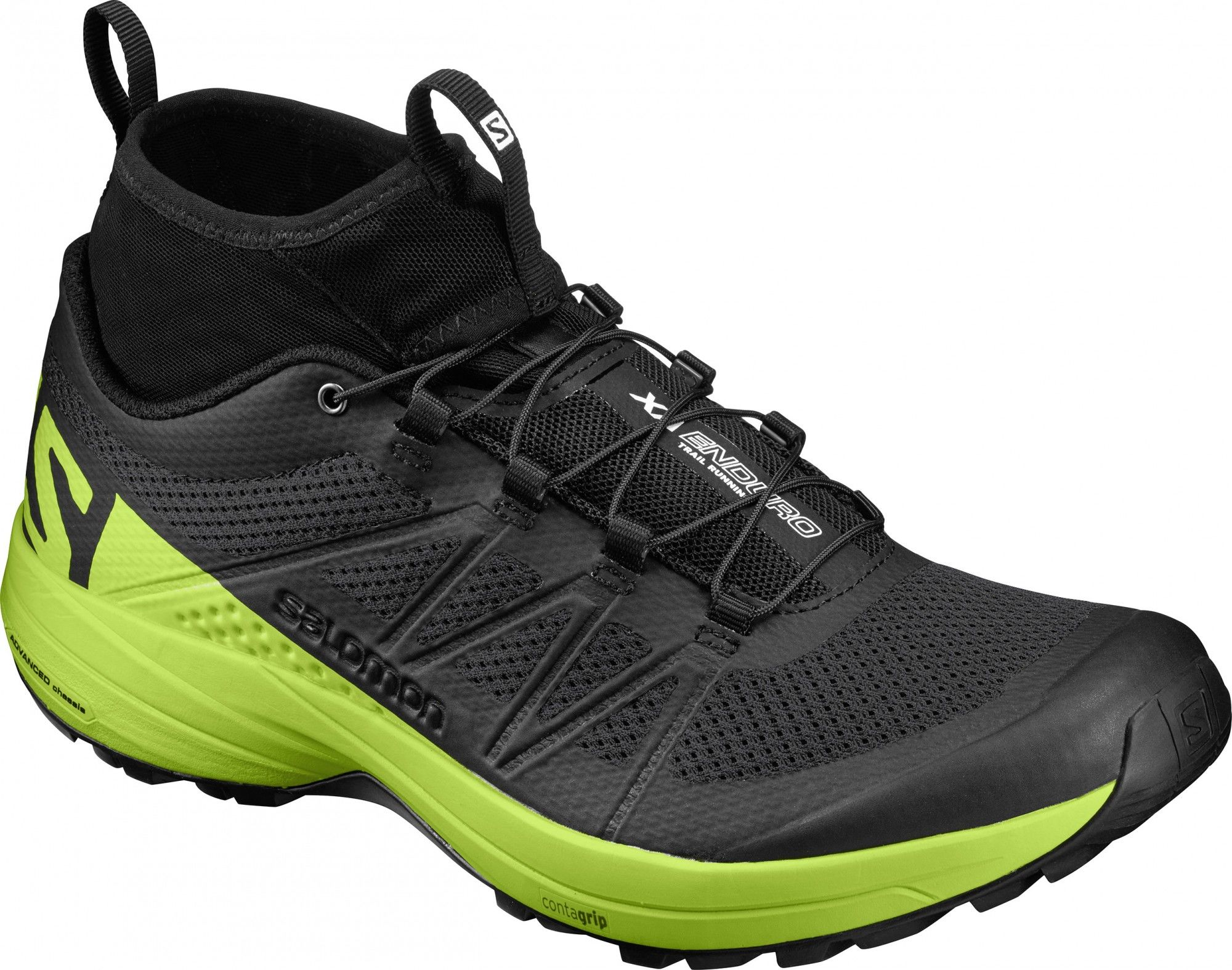 Salomon XA Enduro Schwarz, Male EU 46 -Farbe Black -Lime Green -Black, 46