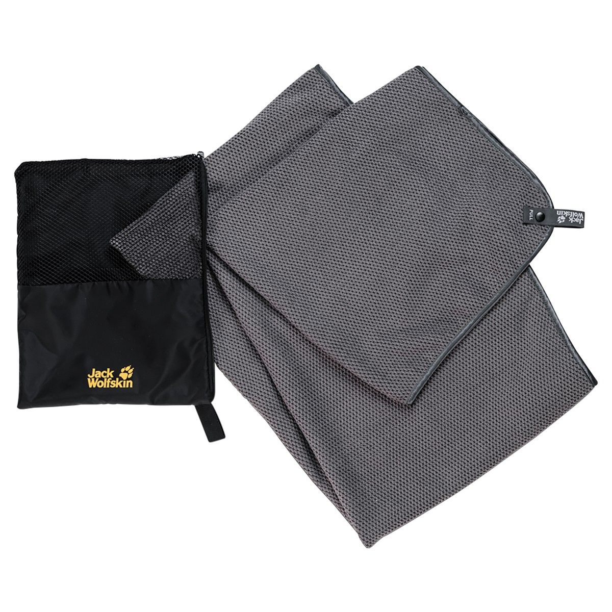 Jack Wolfskin Waffel Towel Grau, One Size -Farbe Pebble Grey, One Size