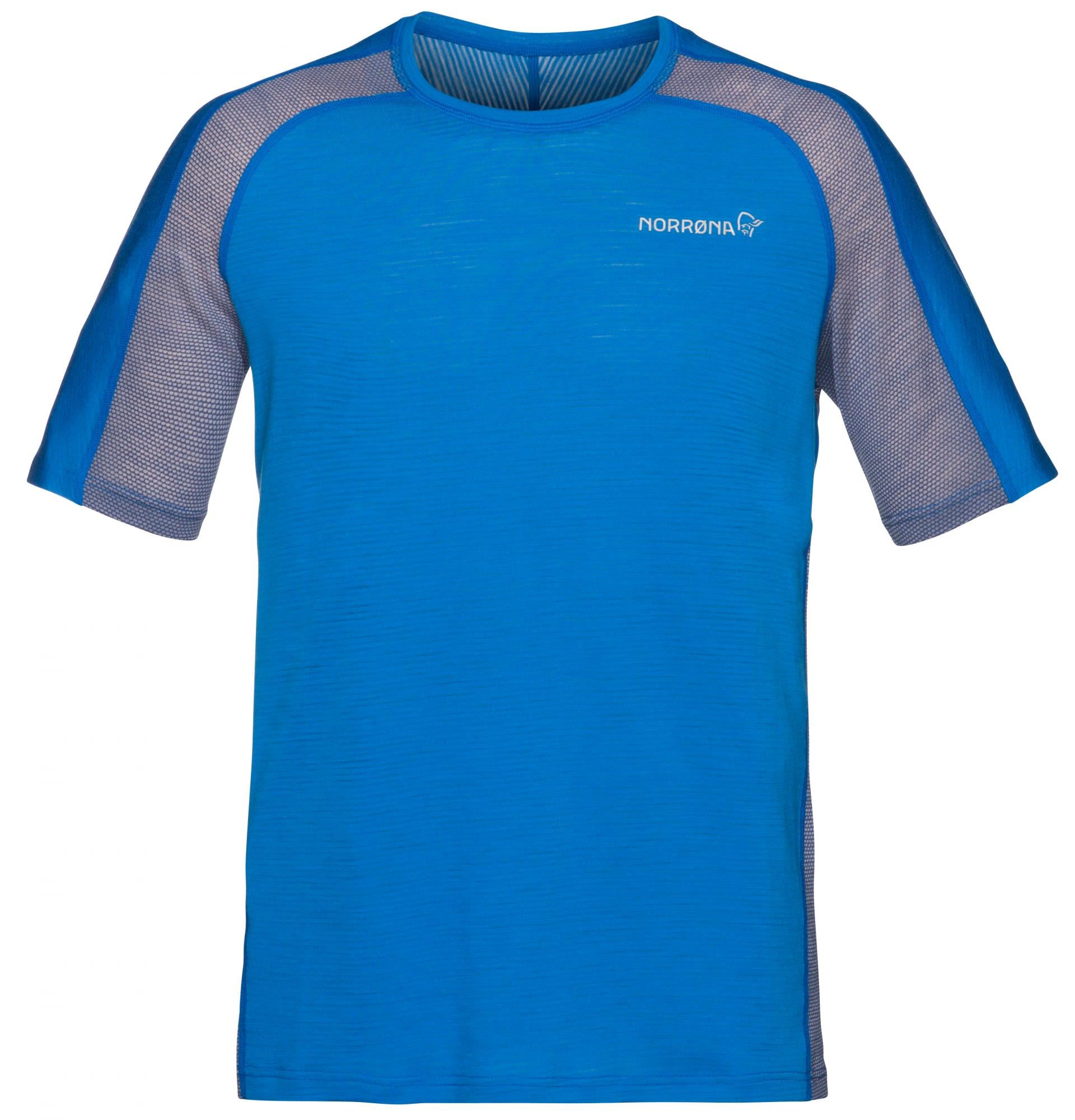 Norrona Bitihorn Wool T-Shirt Blau, Male Merino S -Farbe Hot Sapphire, S