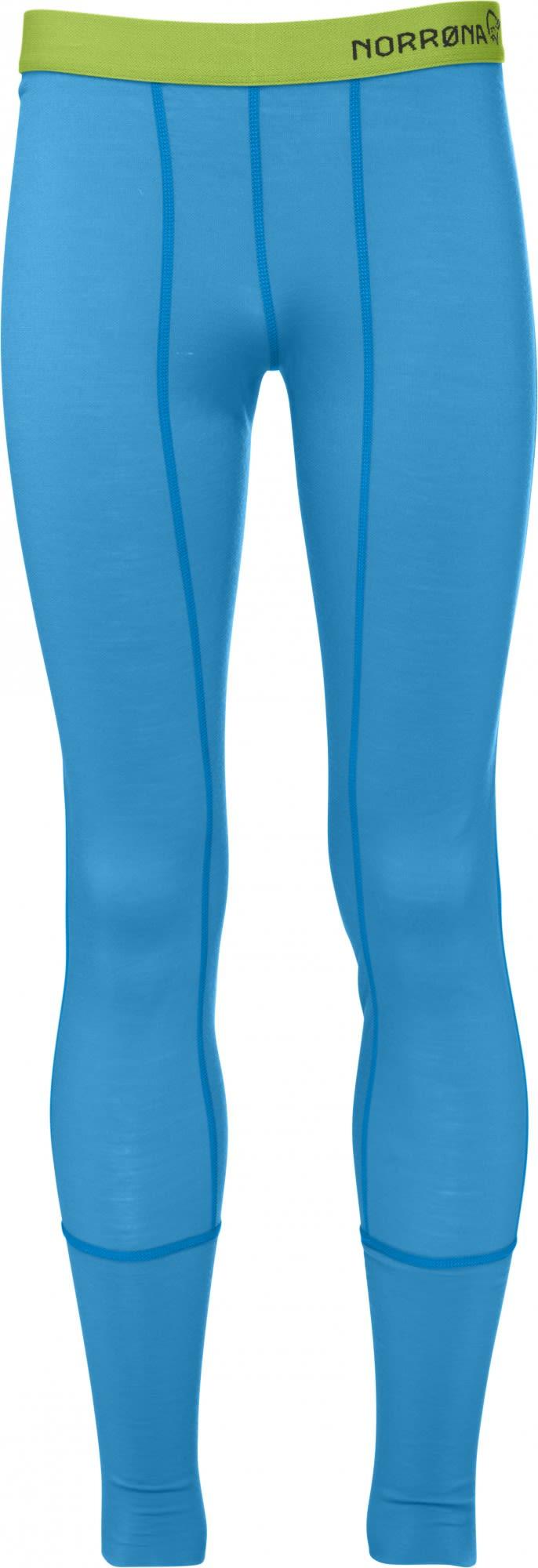 Norrona Junior Longs Blau, Merino 128 -Farbe Signal Blue, 128