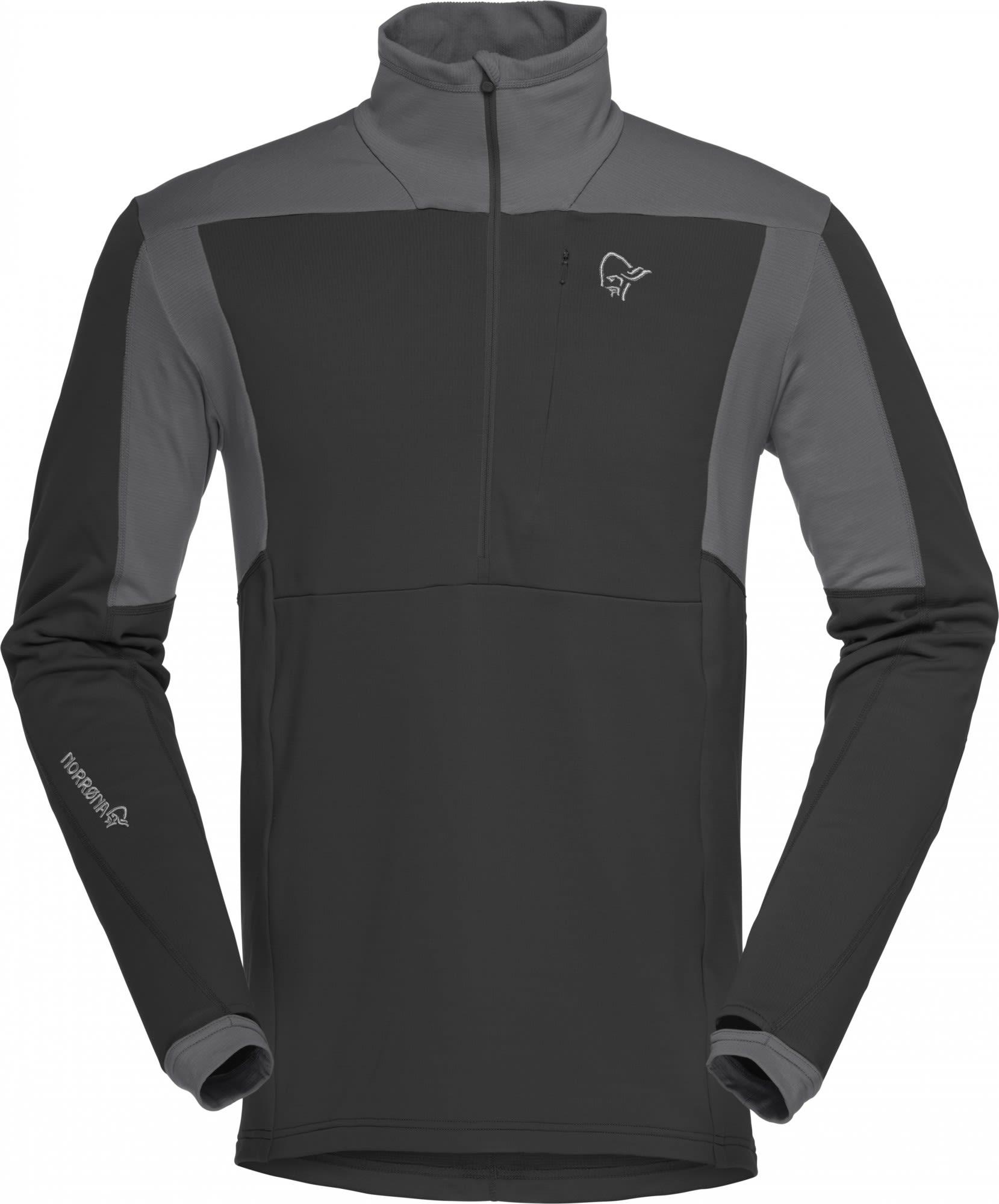 Norrona Falketind Warm1 Stretch Sweater Schwarz, Male Polartec® Freizeitpullove