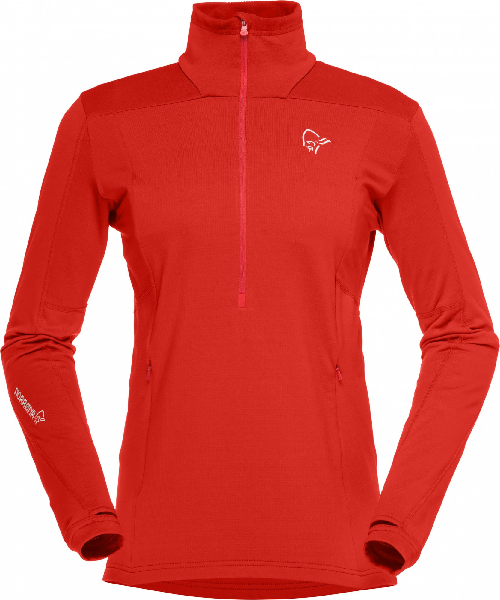 Norrona Falketind Warm1 Stretch Sweater Rot, Female Polartec® Freizeitpullover,