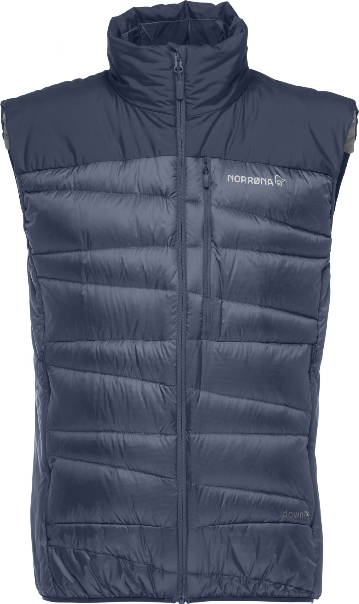 Norrona Falketind Down750 Vest Blau, Male Daunen Isolationsweste, XL