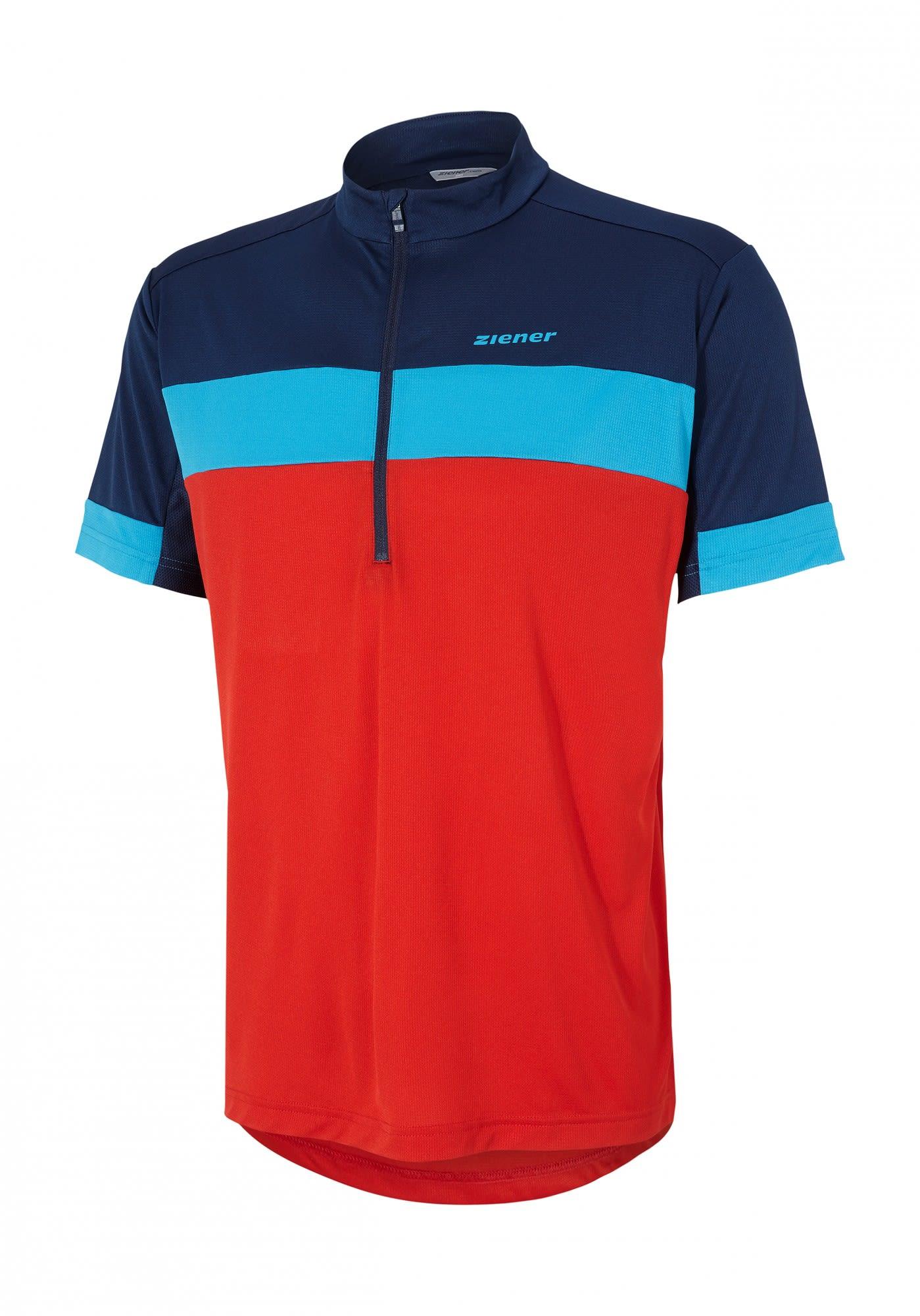 Ziener Cogel Rot, Male Kurzarm-Shirt, 50