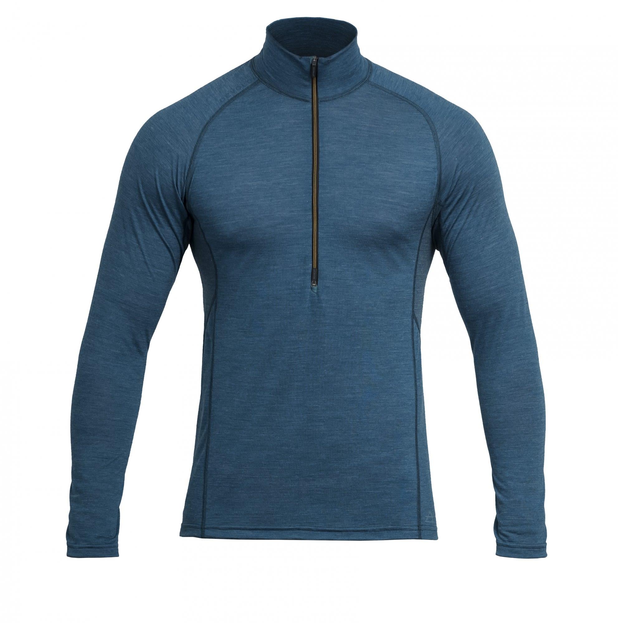 Devold Running MAN Zip Neck Blau, Male Merino S -Farbe Subsea, S