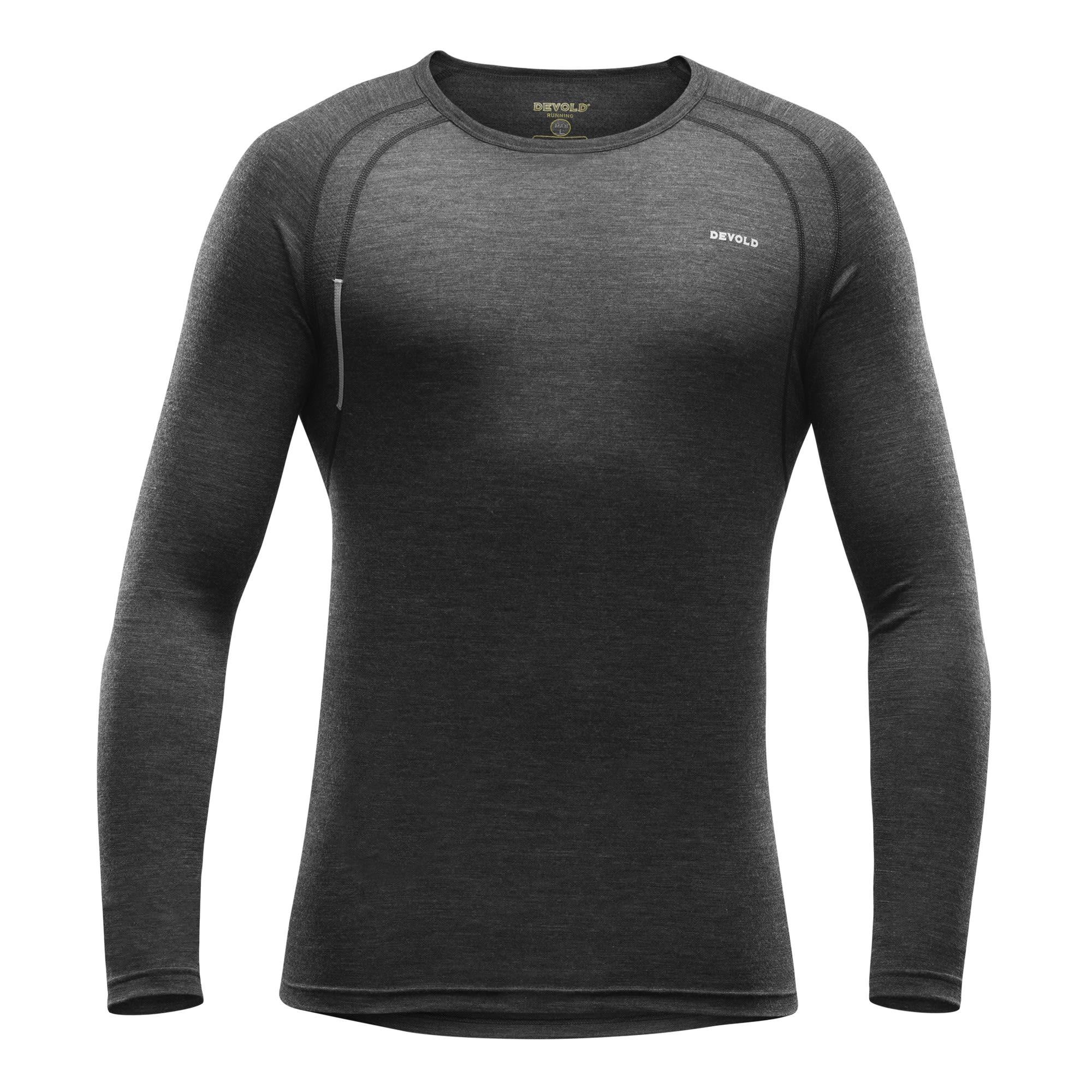 Devold Running MAN Shirt (Modell Winter 2017) Grau, Male Merino XL -Farbe Anthra