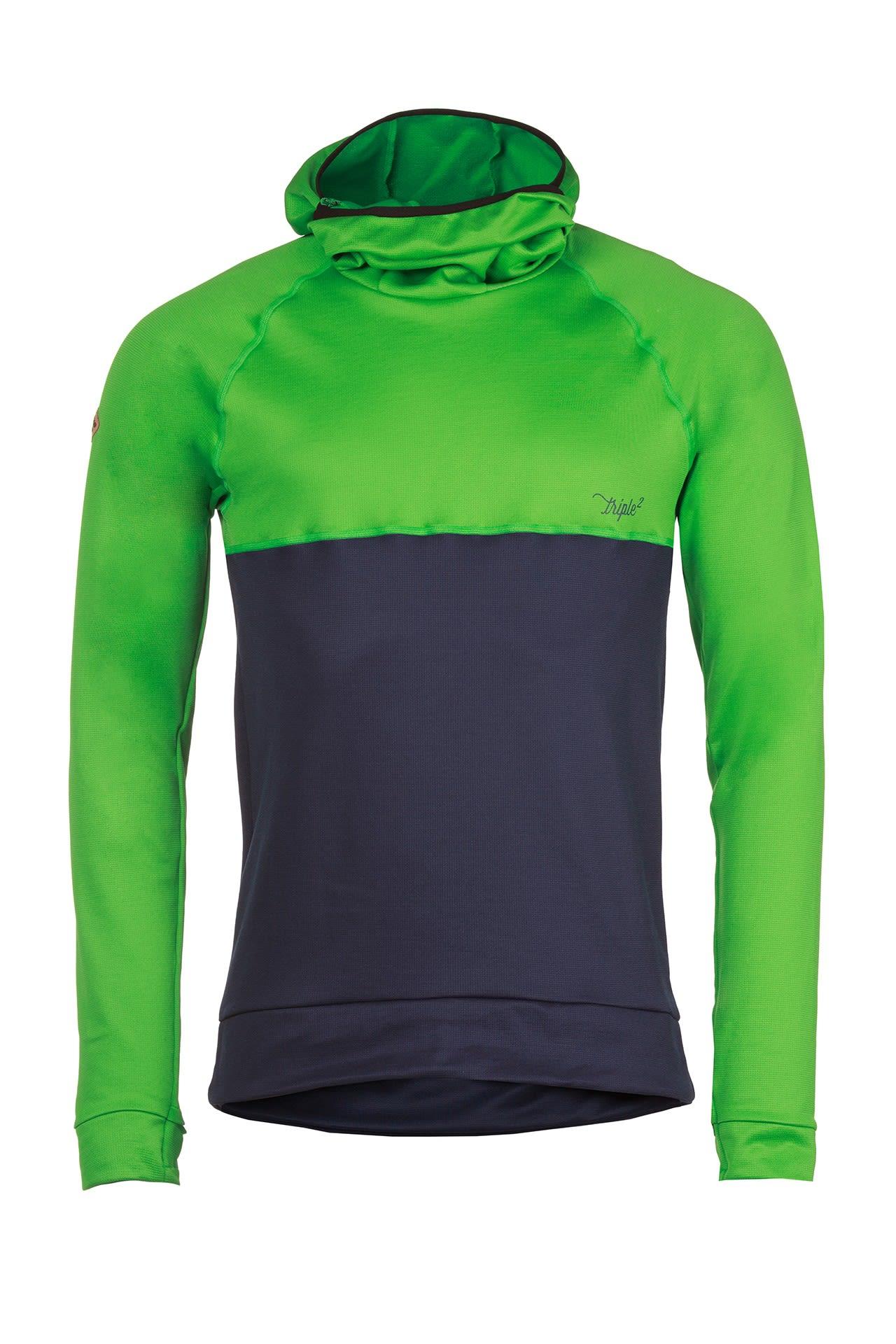 Triple2 Kapp Merino Storm Hoodie Grün, Male Merino Sweaters & Hoodies, XL