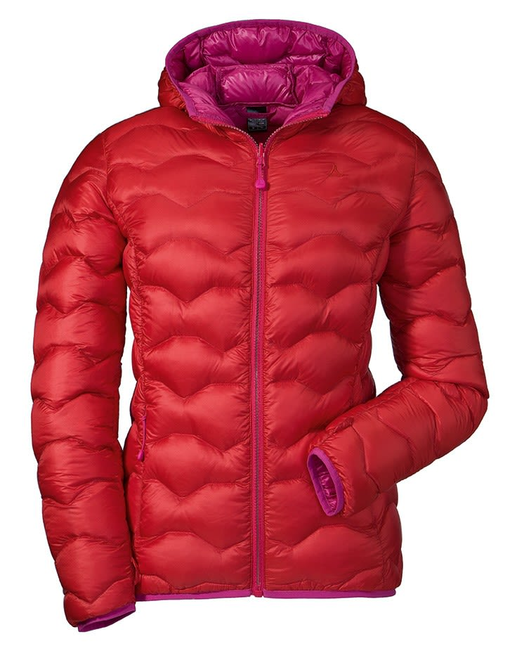 Schöffel Down Jacket Kashgar (Modell Winter 2017) Rot, Female Daunen Daunenjack