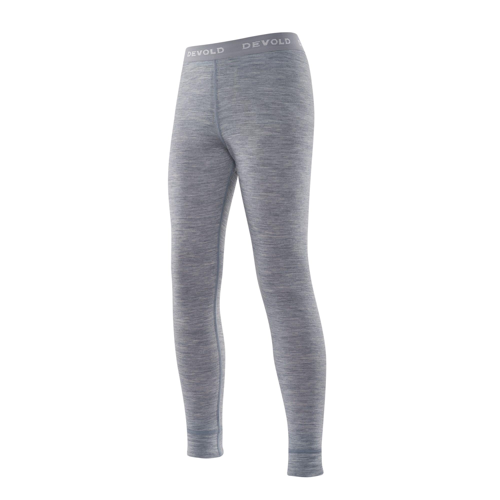 Devold Breeze Junior Long Johns Grau, Merino 12 -Farbe Grey Melange, 12