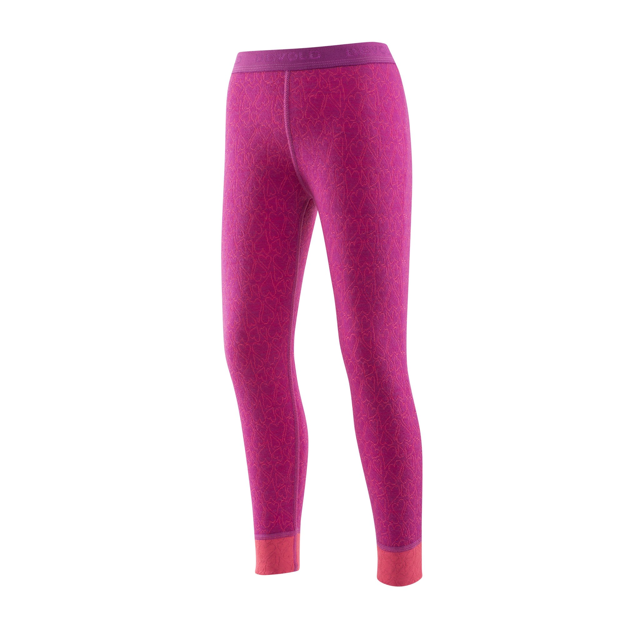 Devold Active KID Long Johns Pink, Merino 06 -Farbe Orchid, 06