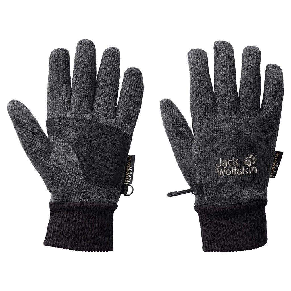 Jack Wolfskin Stormlock Knit Glove Grau, Accessoires, L