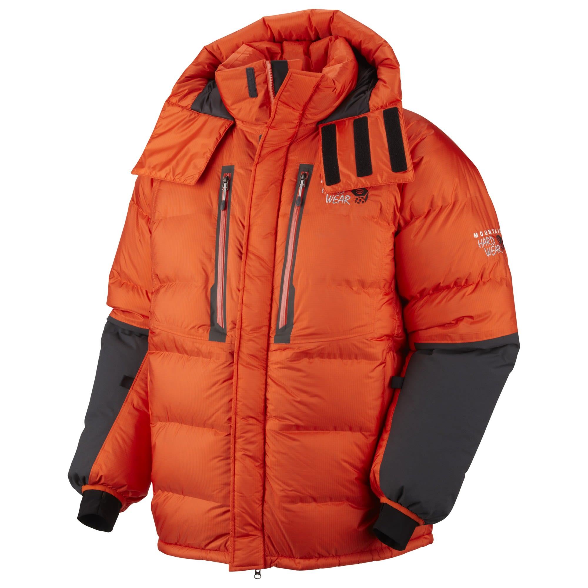 Mountain Hardwear Absolute Zero Parka Orange, Male Daunen Mens -Farbe State Oran
