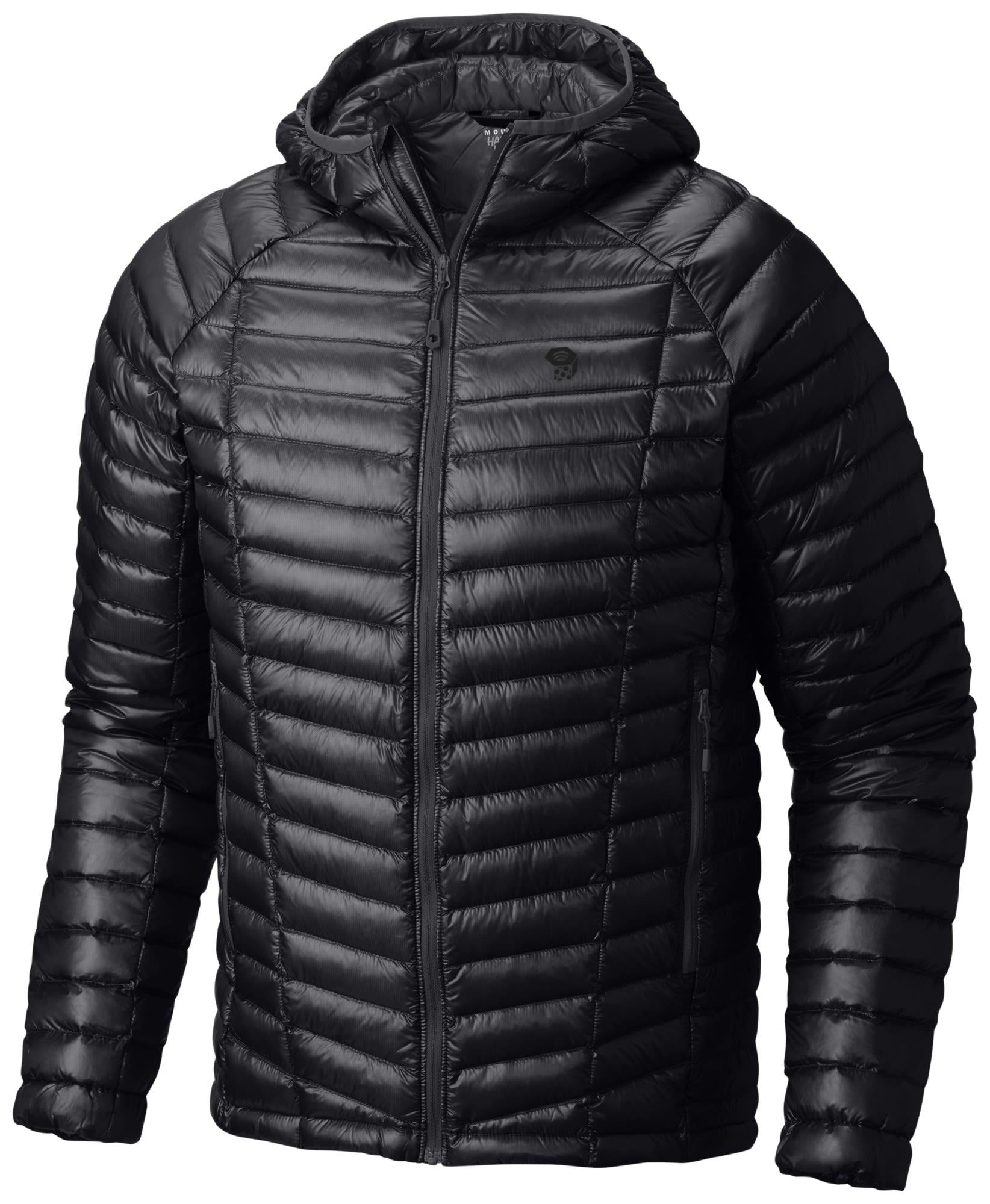 Mountain Hardwear Ghost Whisperer Hooded Down Jacket Schwarz, Male Daunen XL -Fa
