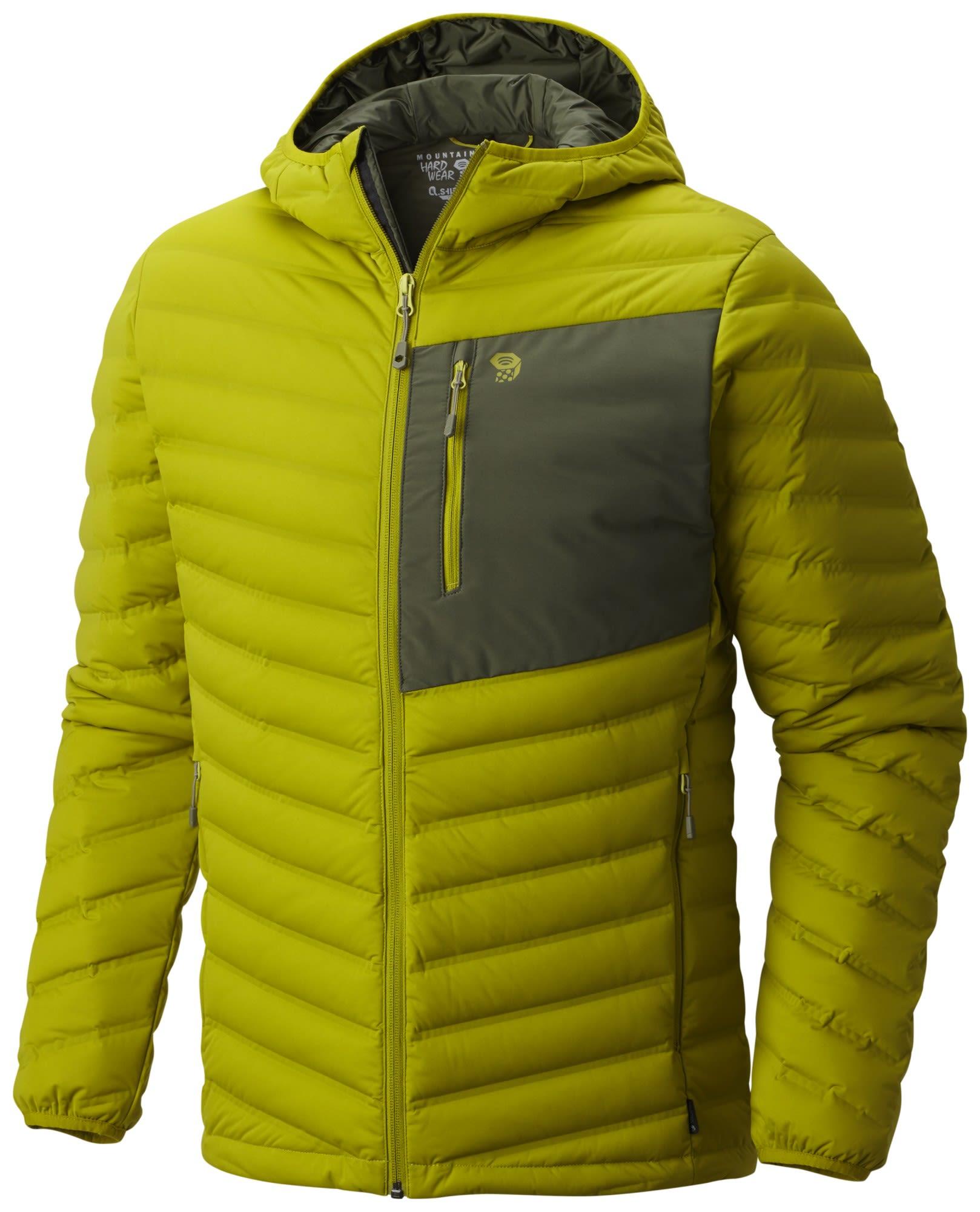 Mountain Hardwear Stretchdown Hooded Jacket Grün, Male Daunen XL -Farbe Python