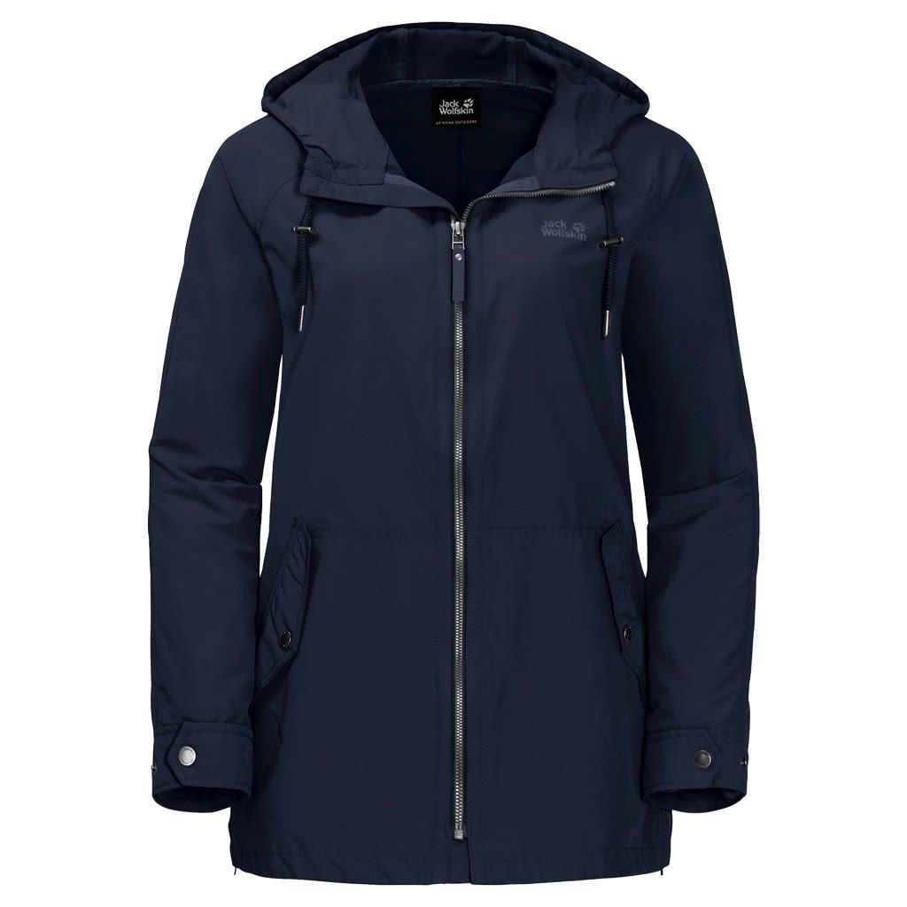 Jack Wolfskin Lewiston Jacket Blau, Female L -Farbe Midnight Blue, L