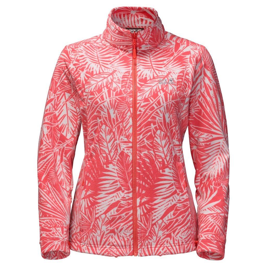 Jack Wolfskin Kiruna Jungle Jacket Rot, Female L -Farbe Hot Coral All Over, L