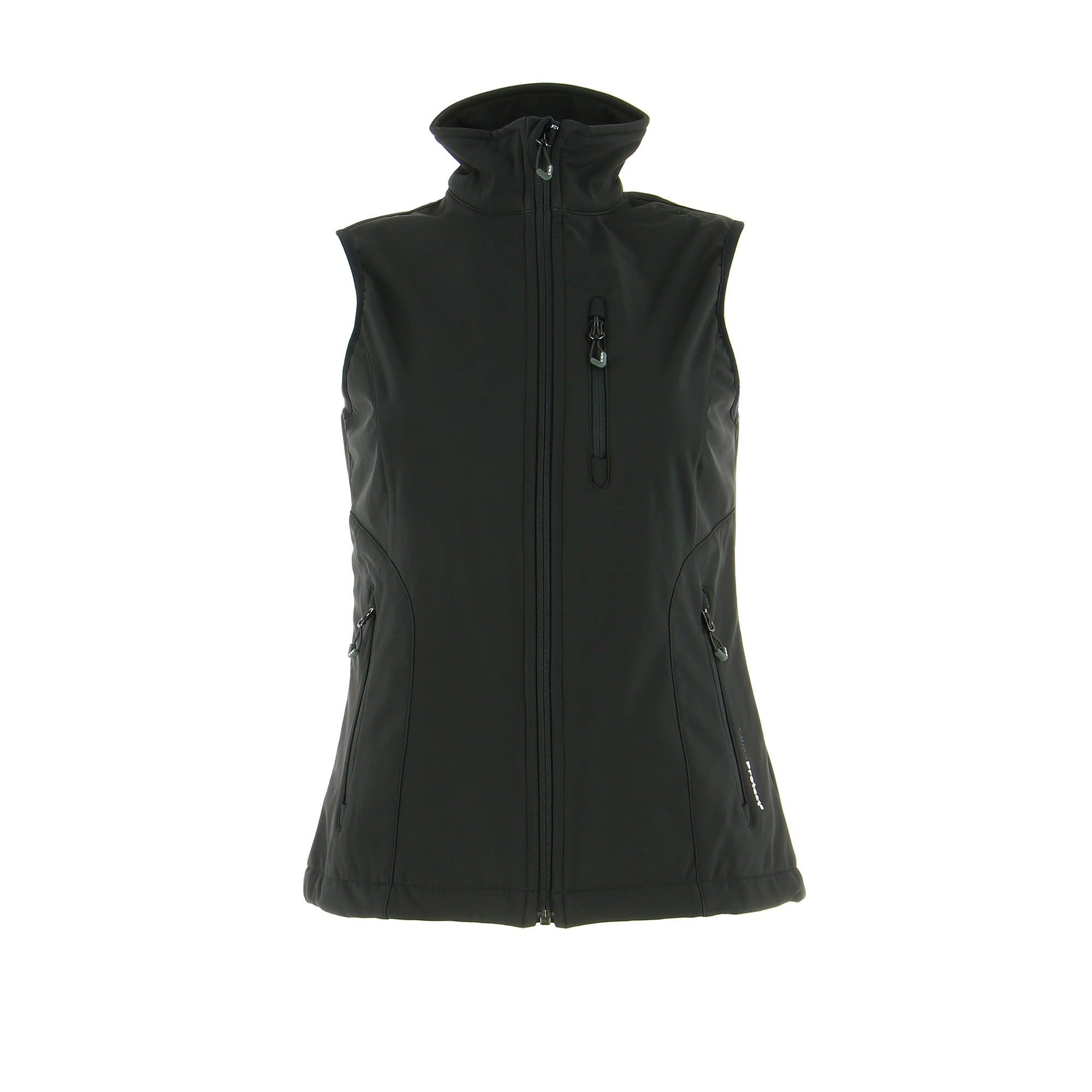 CMP Softshell Vest Schwarz, Female 40 -Farbe Nero, 40