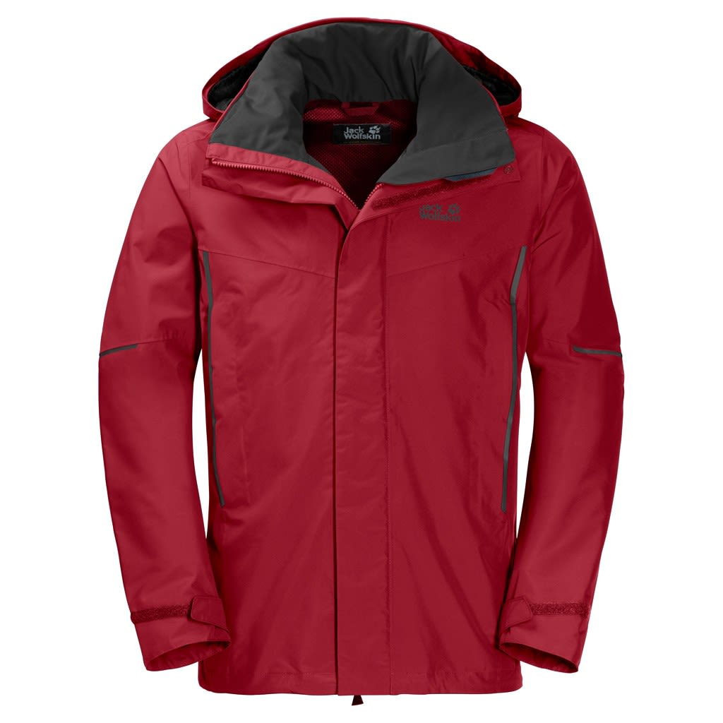 Jack Wolfskin Escalente Jacket Rot, Male L -Farbe Indian Red XT, L