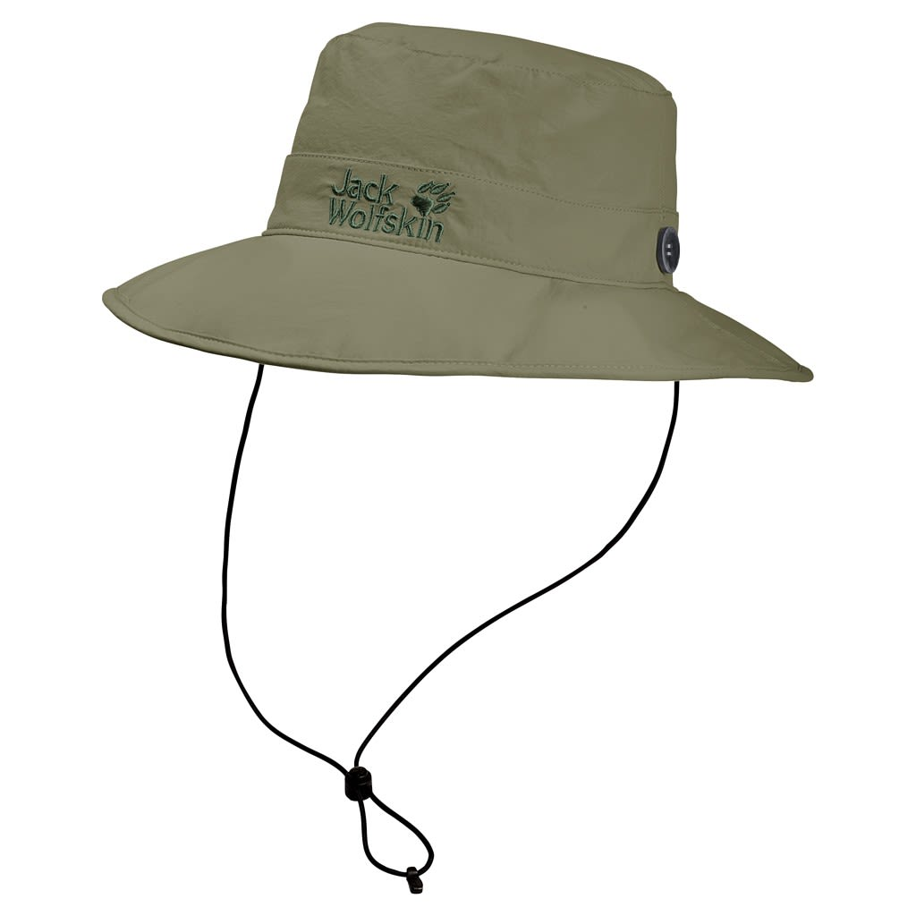Jack Wolfskin Supplex Mesh Hat Grün, Mens -Farbe Khaki, M