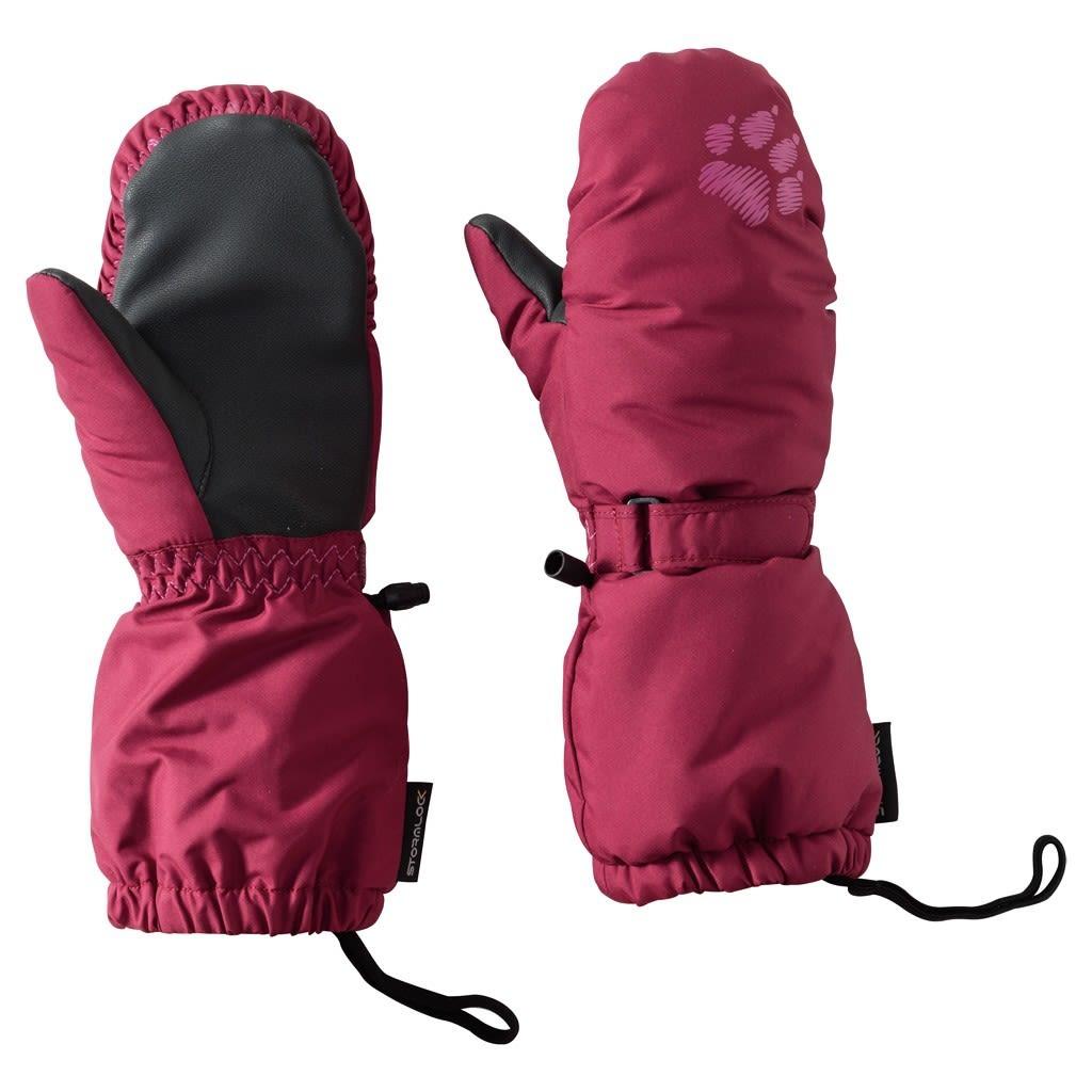 Jack Wolfskin Kids Stormlock PAW Mitten Rot, Thinsulate™ 104 -Farbe Dark Ruby,