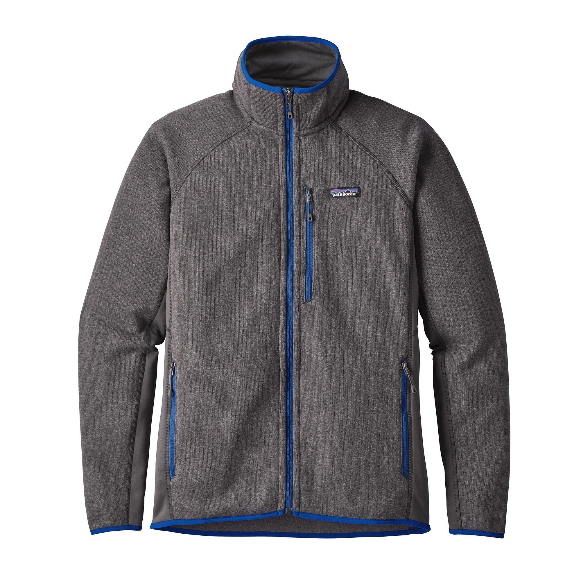 Patagonia Performance Better Sweater Jacket Grau, Male Polartec® XL -Farbe Forg