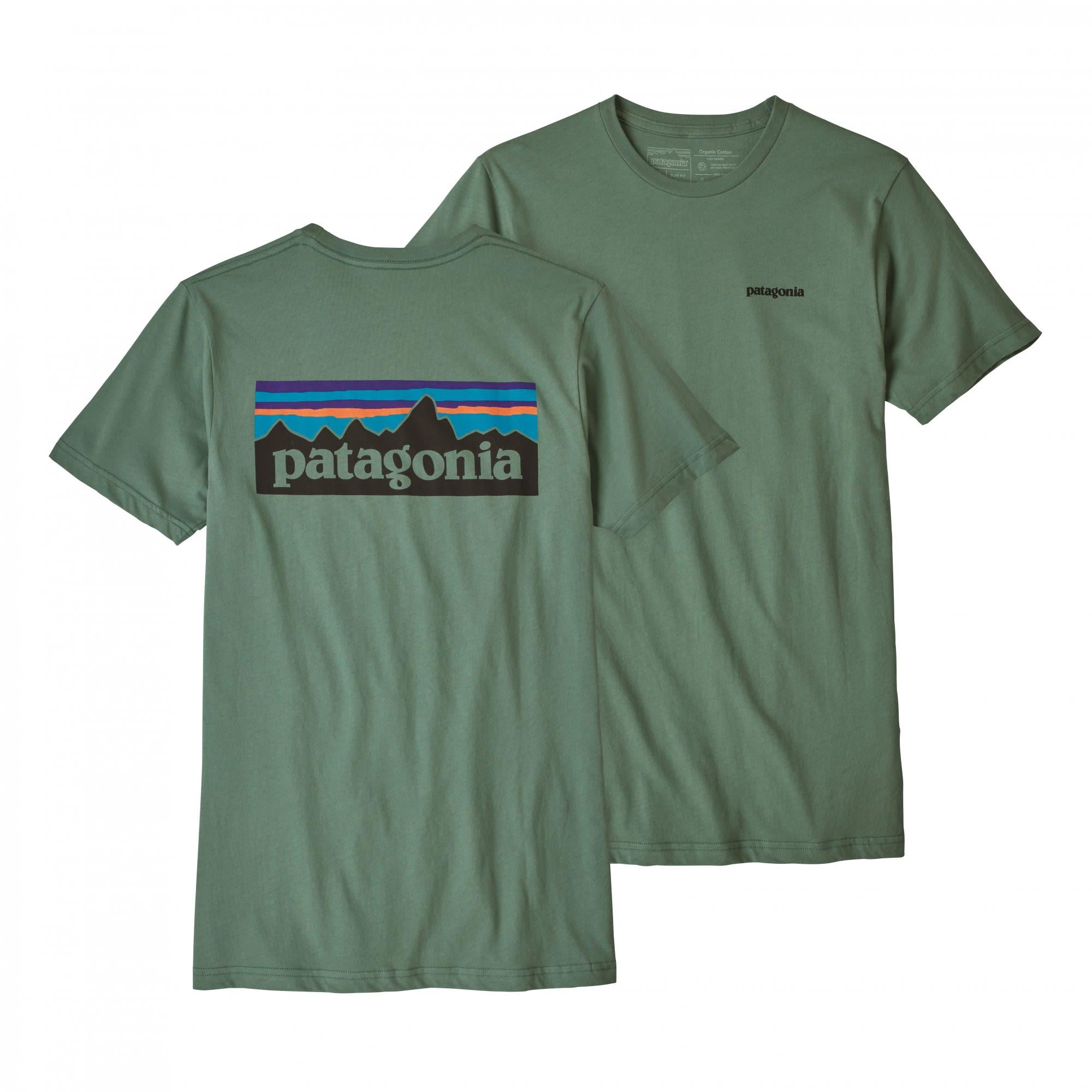 Patagonia P-6 Logo Organic T-Shirt Grün, Male Kurzarm-Shirt, S