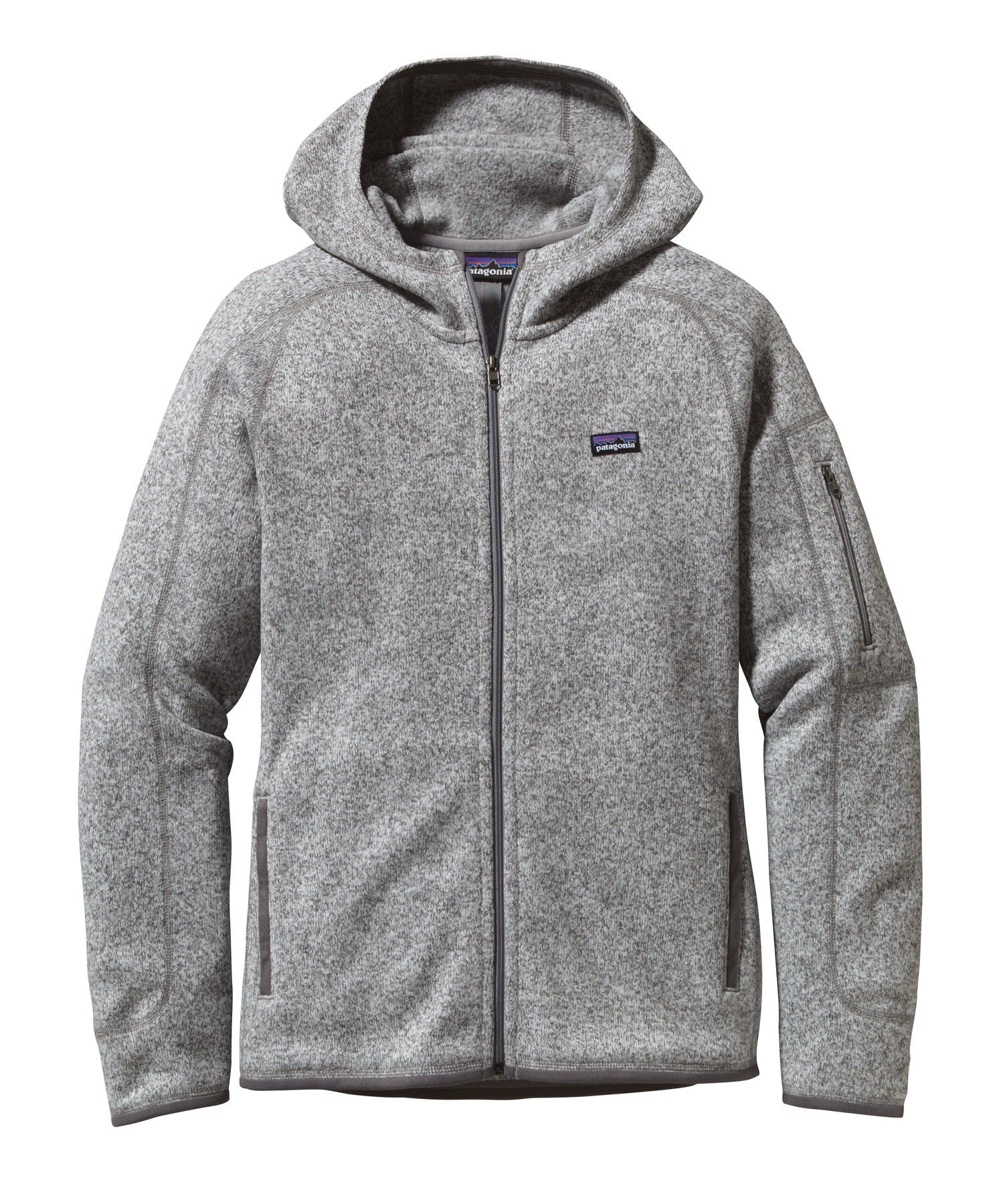 Patagonia Better Sweater Hoody Grau, Female Fleecejacke, L
