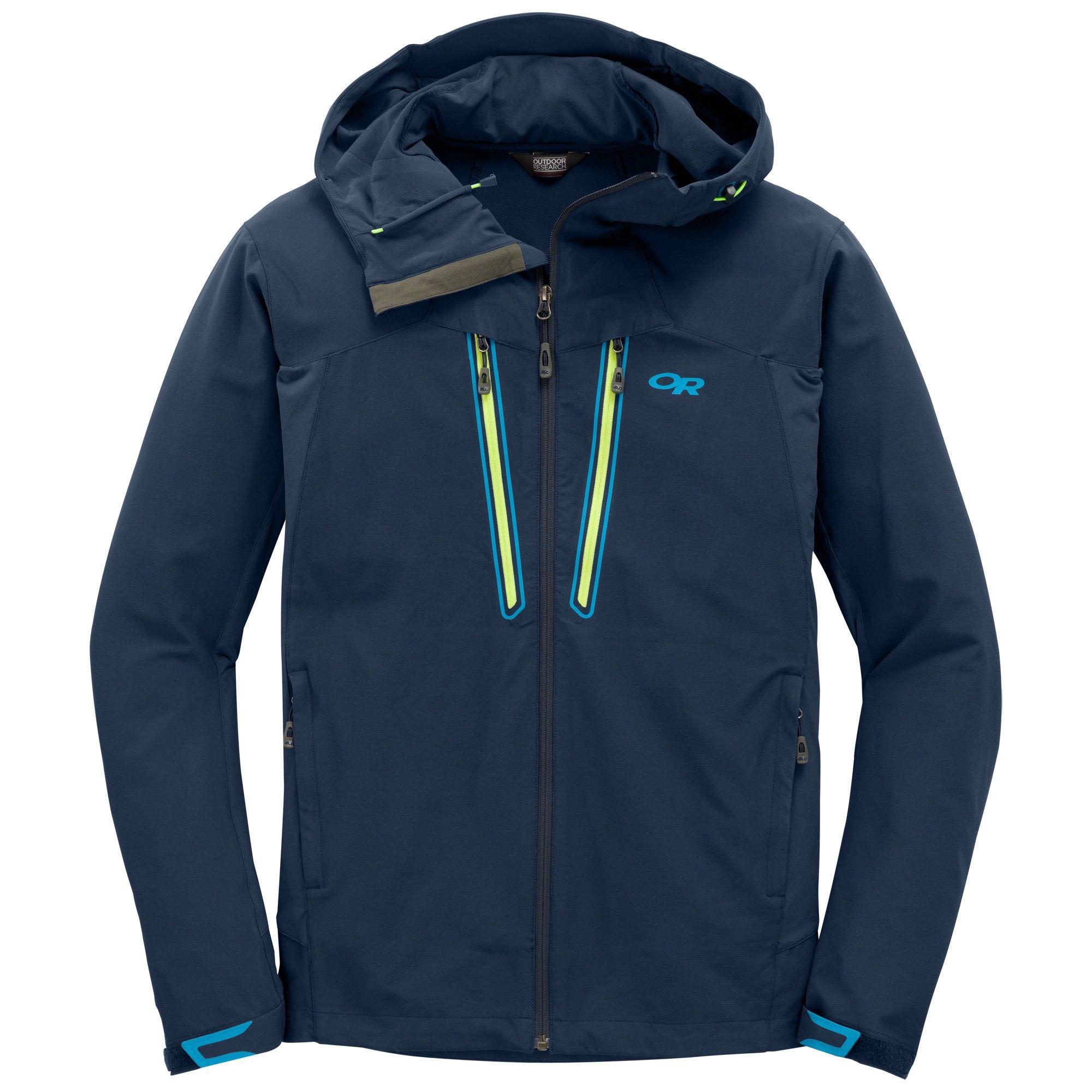 Outdoor Research Ferrosi Summit Hooded Jacket Blau, Male Freizeitjacke, S