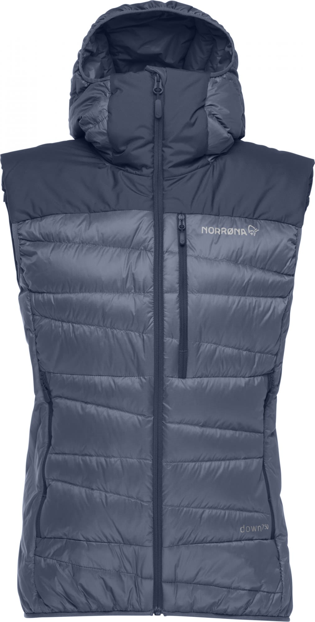 Norrona Falketind Down750 Vest Blau, Female Daunen Isolationsweste, M